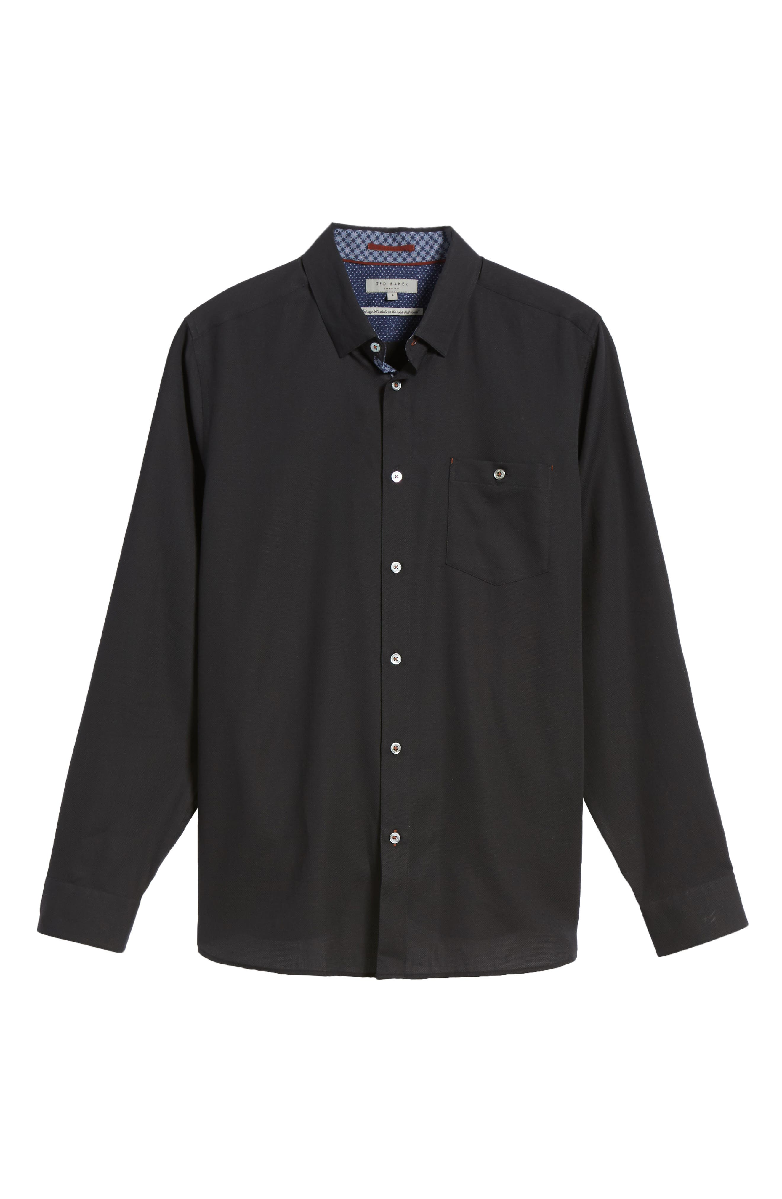Nordlux Modern Slim Fit Stretch Cotton Sport Shirt,                             Alternate thumbnail 6, color,                             001