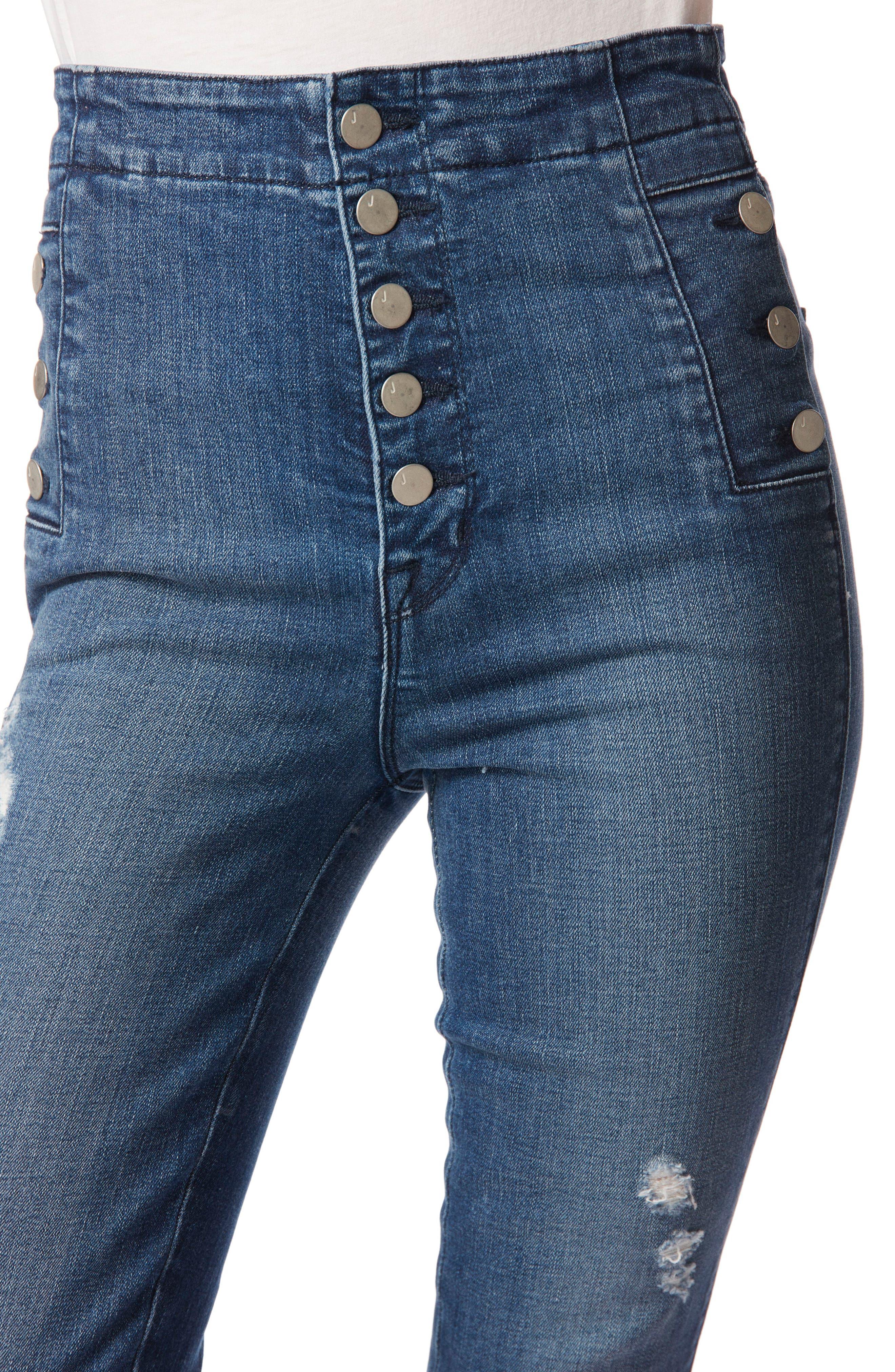 Natasha Sky High High Waist Skinny Jeans,                             Alternate thumbnail 4, color,                             234