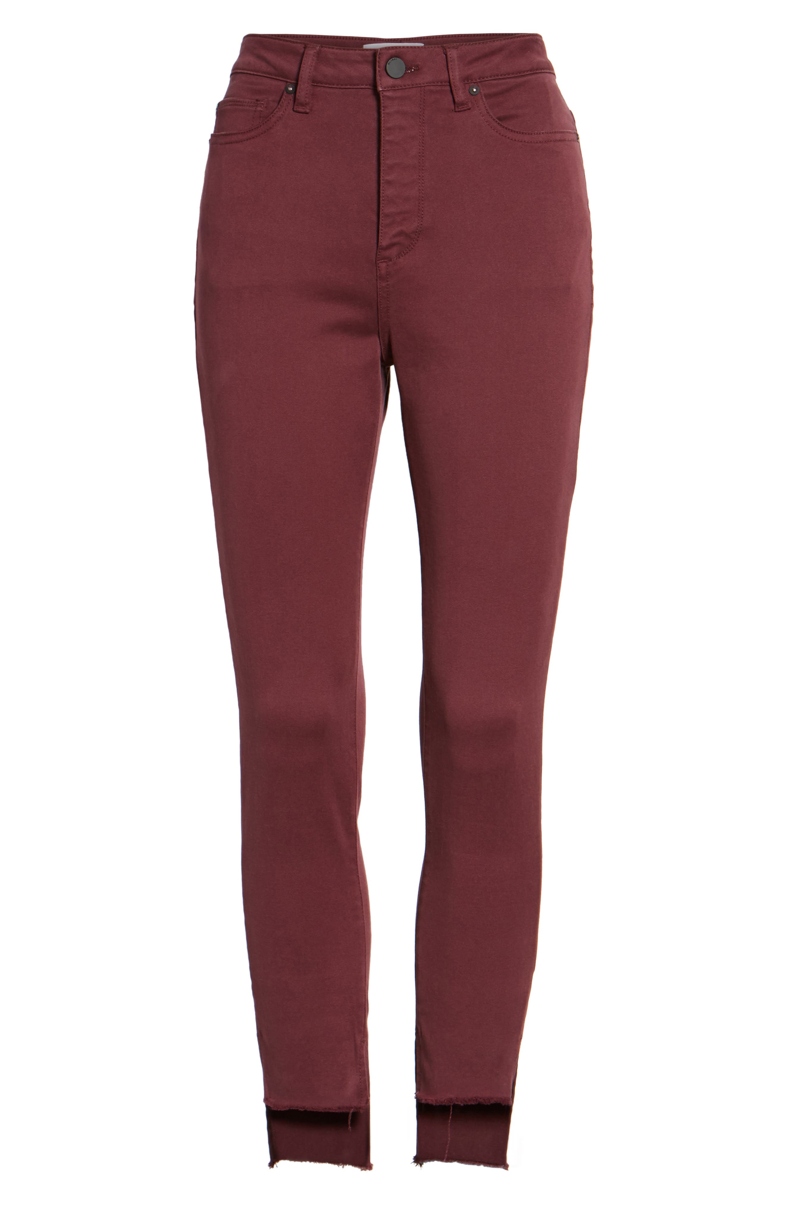 Chrissy Trimstone High Waist Step Hem Skinny Jeans,                             Alternate thumbnail 6, color,