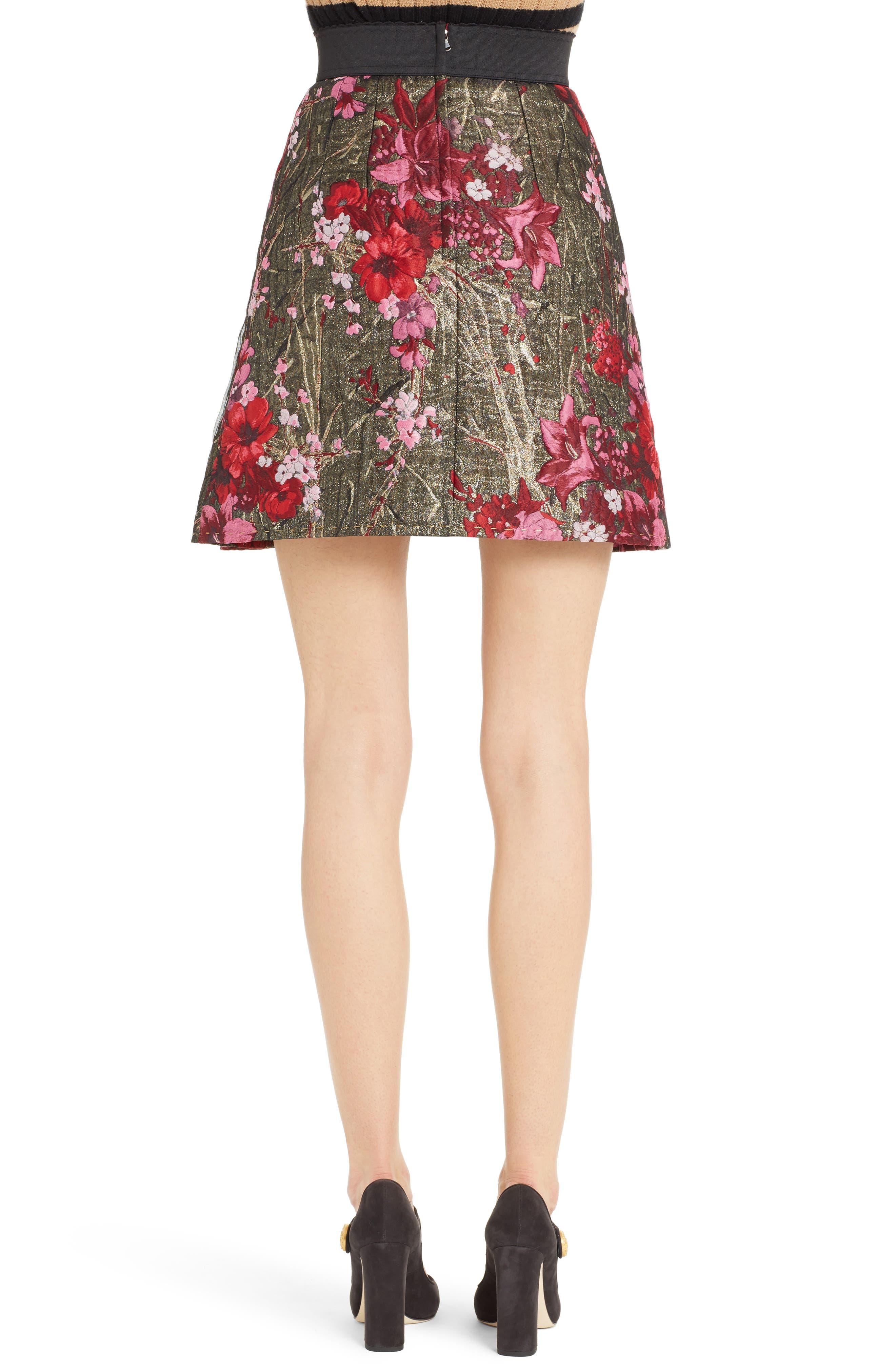 Metallic Jacquard Miniskirt,                             Alternate thumbnail 2, color,                             600