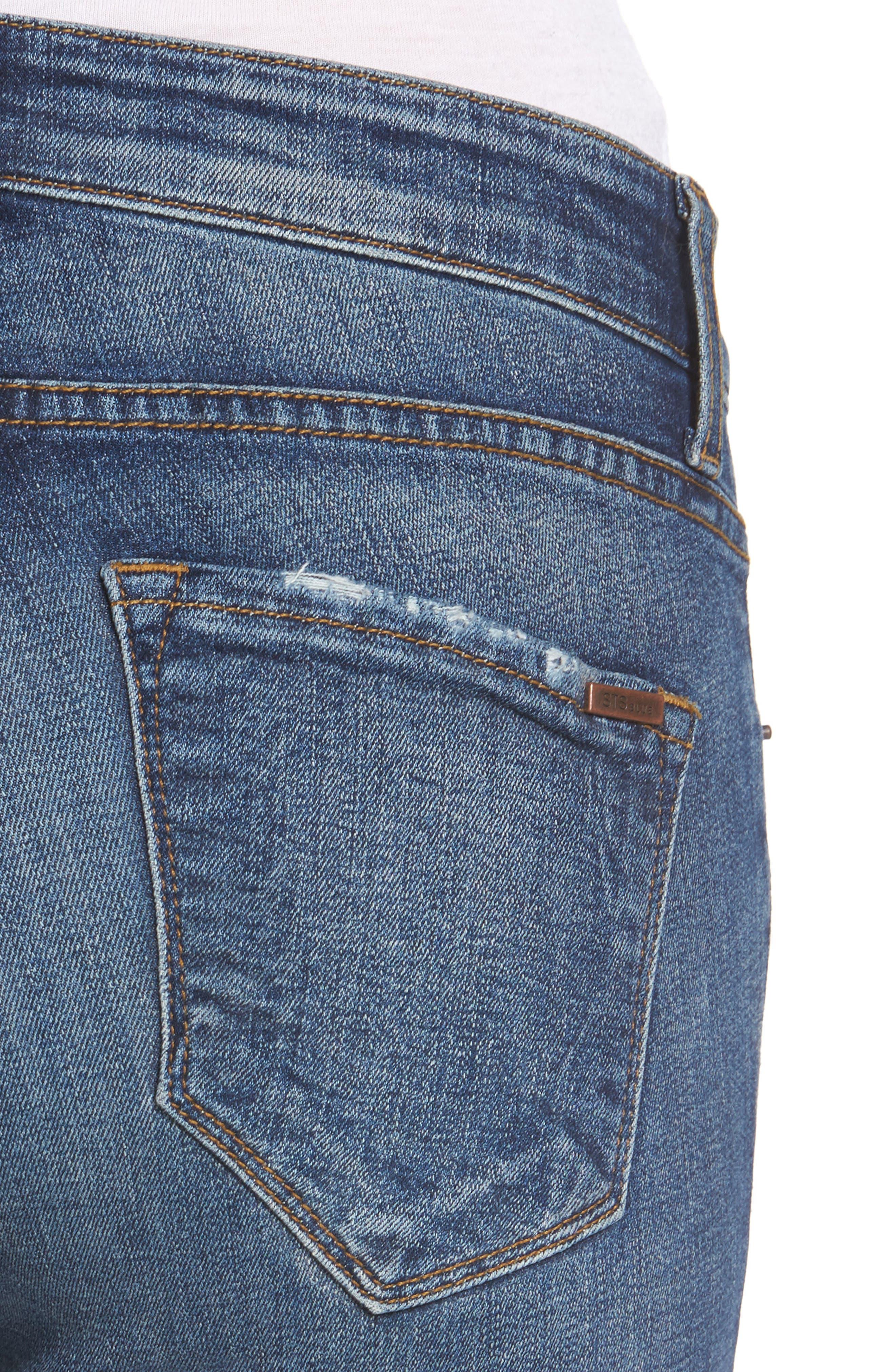 Taylor Tomboy Ripped Boyfriend Jeans,                             Alternate thumbnail 4, color,                             400