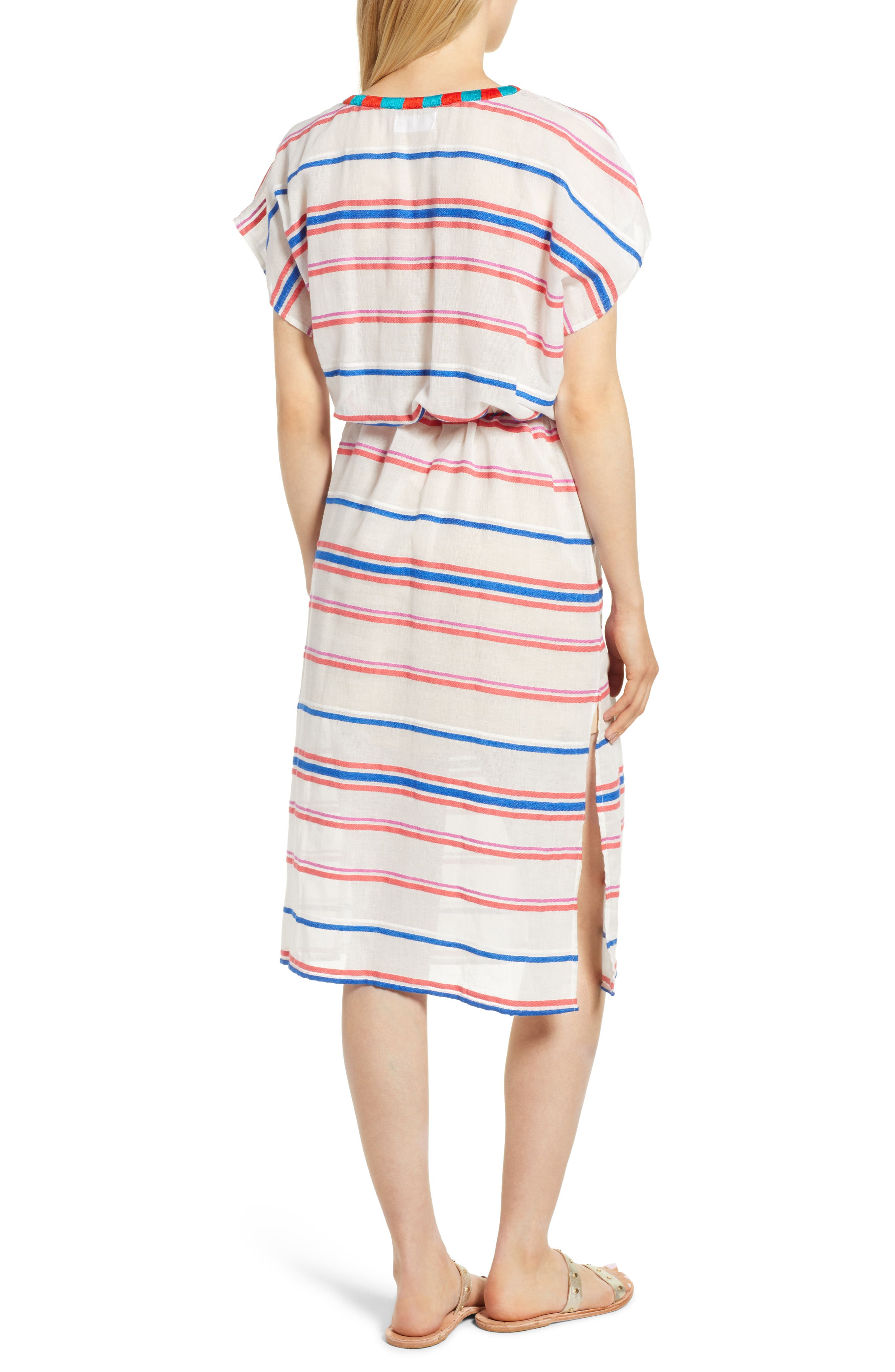 Stripe Caftan Dress,                             Alternate thumbnail 2, color,                             196