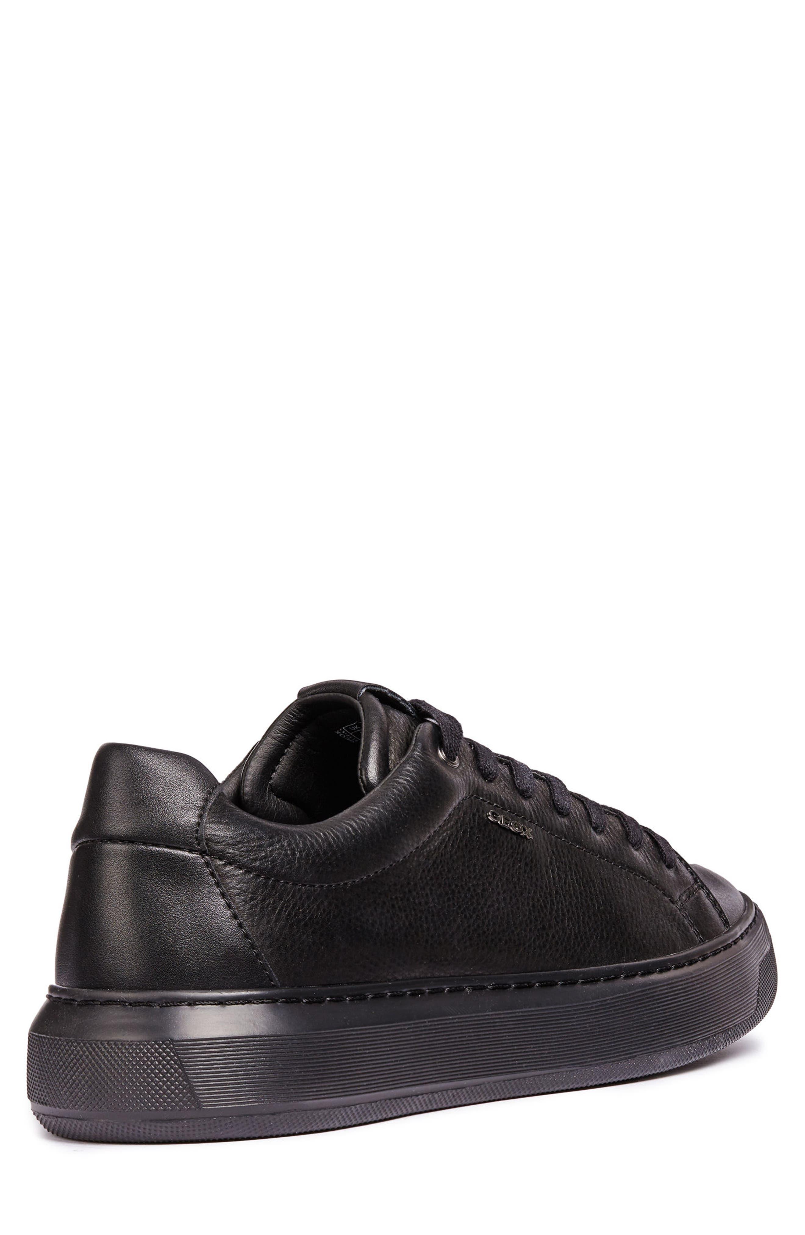 Deiven 4 Low Top Sneaker,                             Alternate thumbnail 2, color,                             BLACK LEATHER