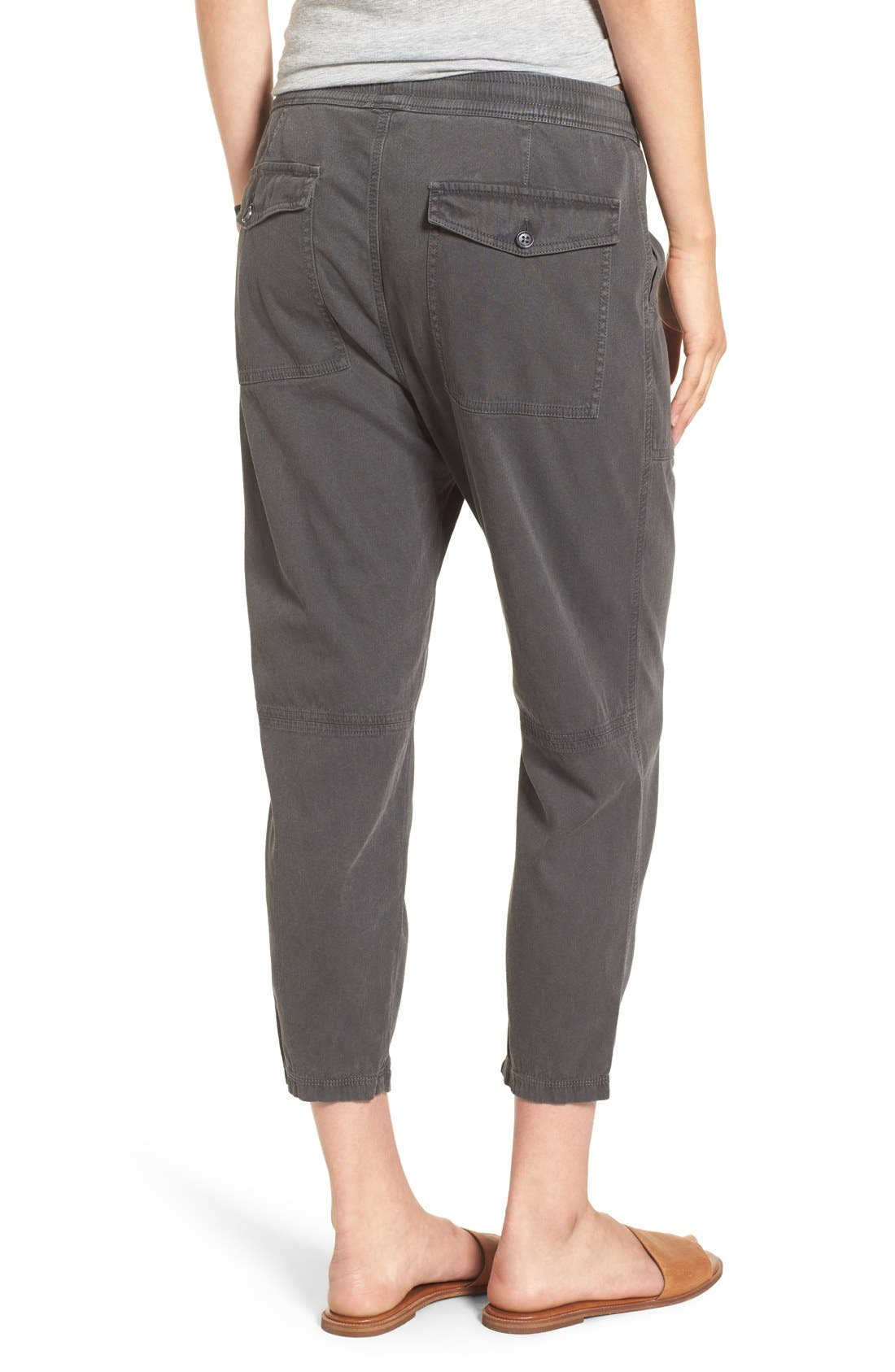 Relaxed Crop Twill Pants,                             Alternate thumbnail 5, color,                             203