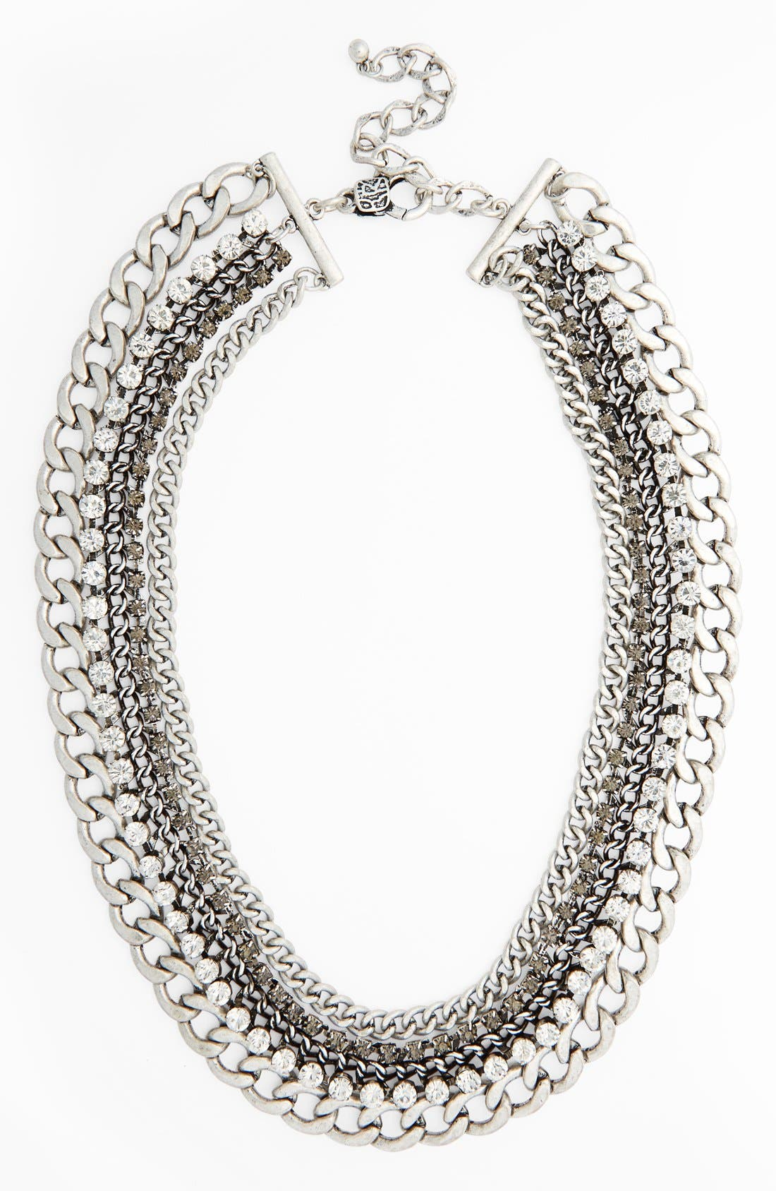 Crystal Multi Chain Necklace,                             Main thumbnail 1, color,                             041