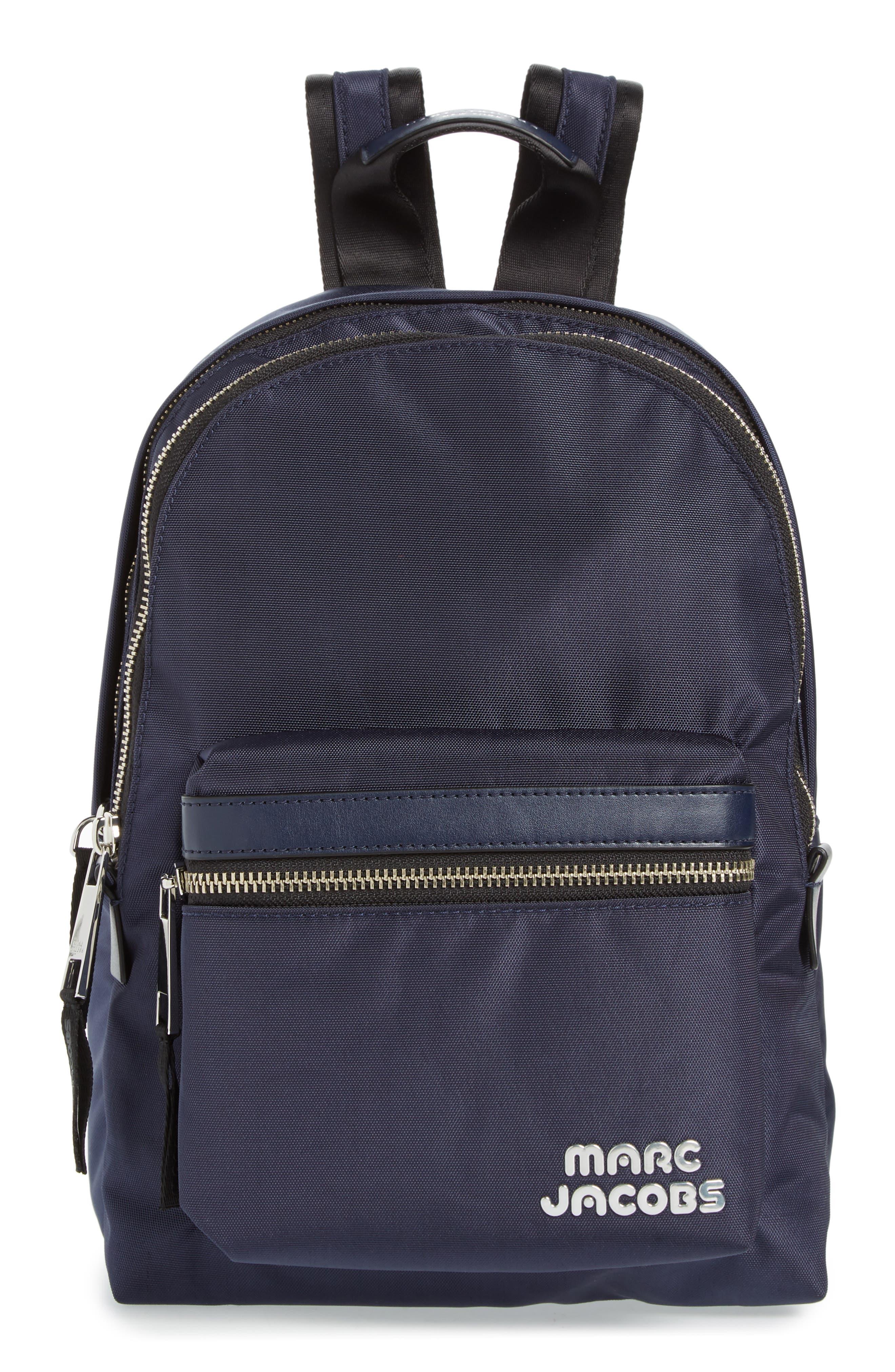 Medium Trek Nylon Backpack,                         Main,                         color, MIDNIGHT BLUE
