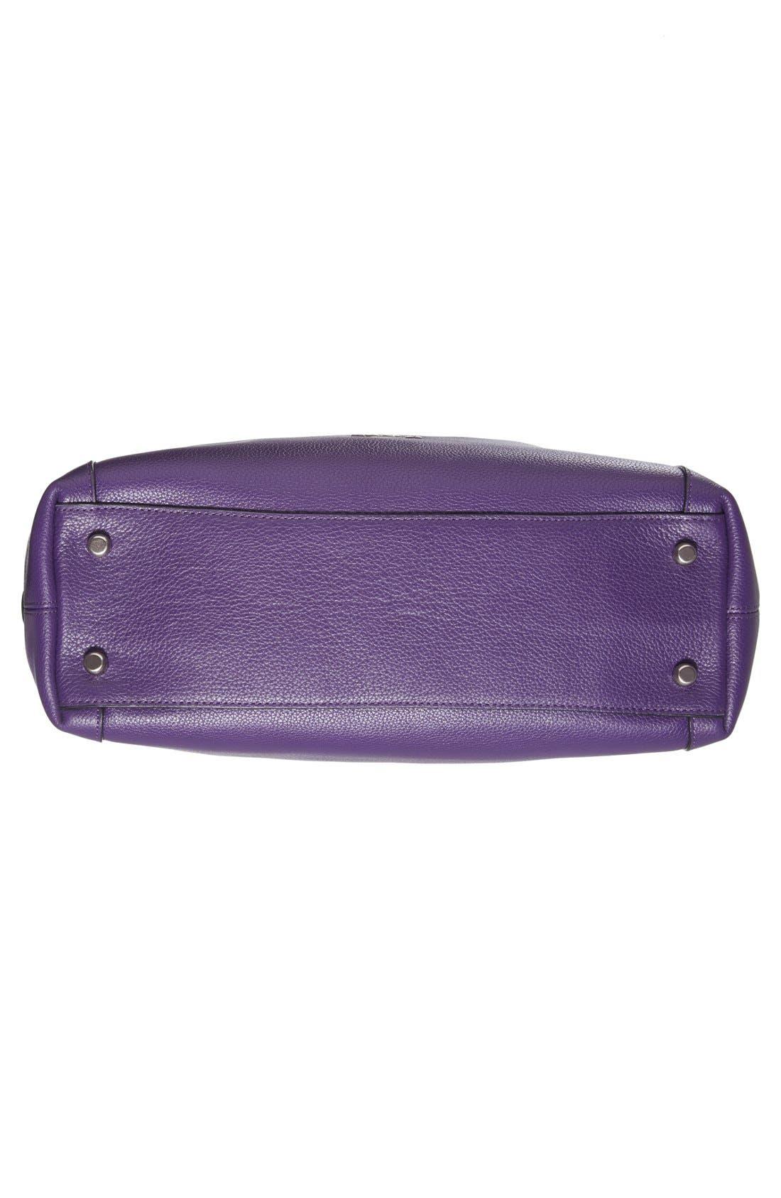 COACH,                             'Edie 31' Pebbled Leather Shoulder Bag,                             Alternate thumbnail 4, color,                             500