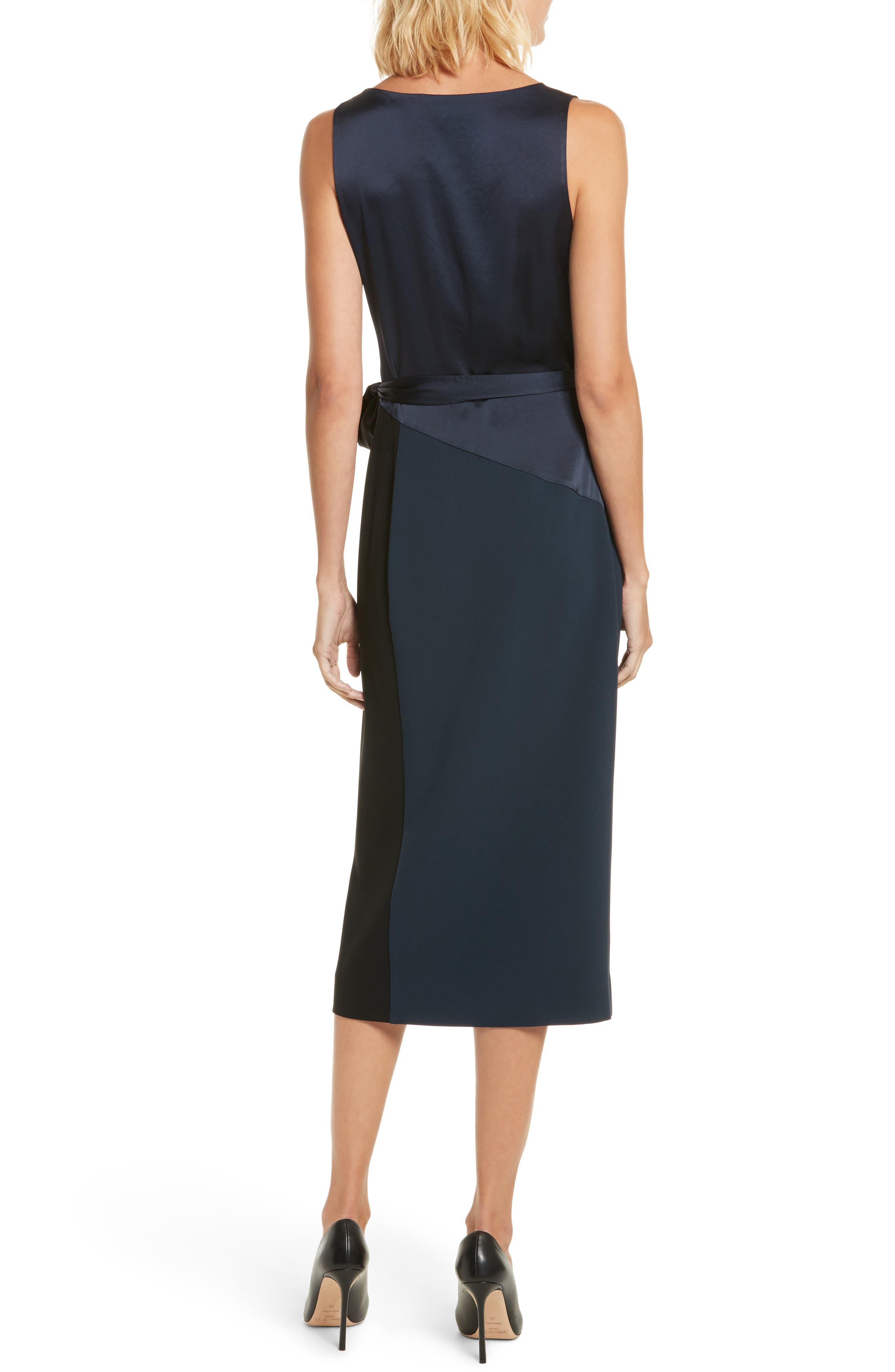 Midi Wrap Dress,                             Alternate thumbnail 2, color,                             202