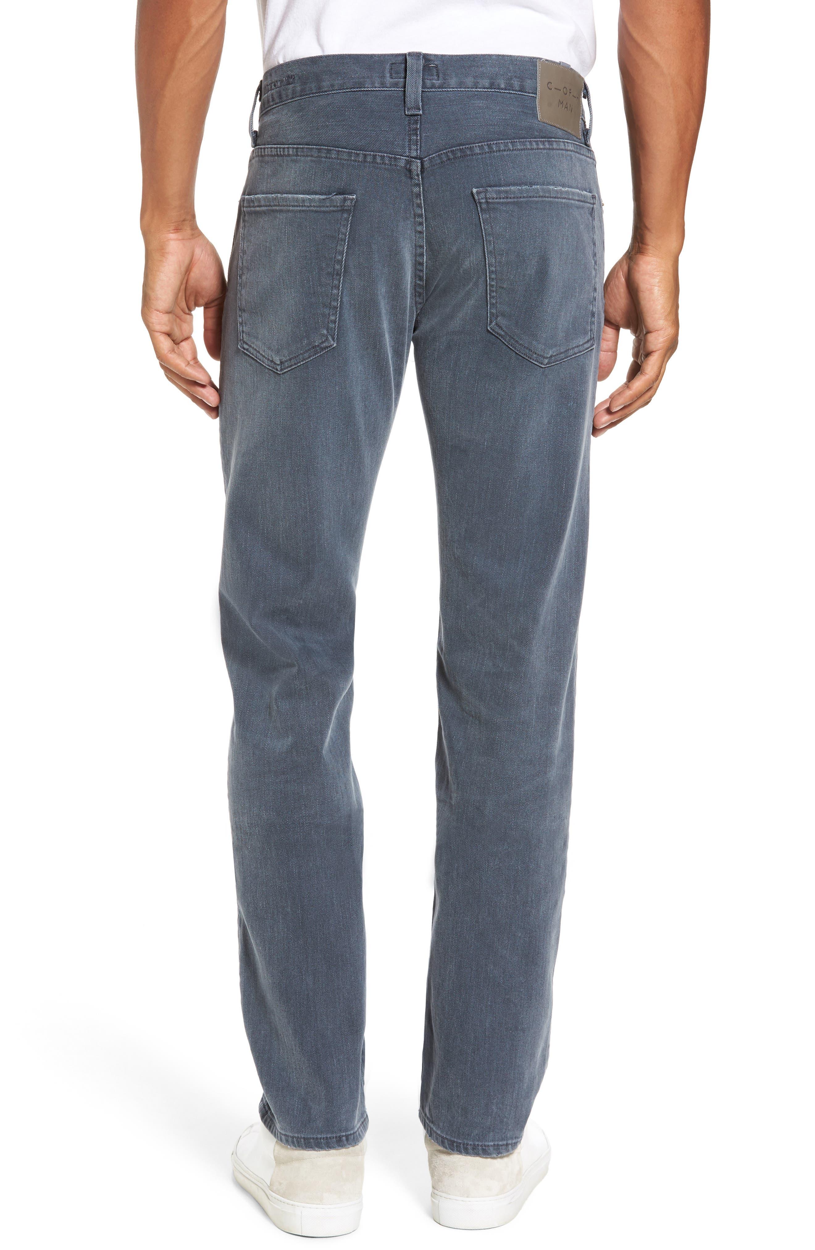 Core Slim Fit Jeans,                             Alternate thumbnail 2, color,                             GREY SKIES