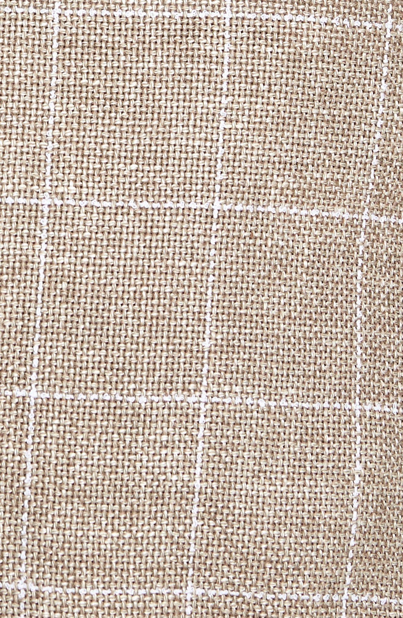 Nobis Trim Fit Windowpane Wool & Linen Sport Coat,                             Alternate thumbnail 6, color,                             250