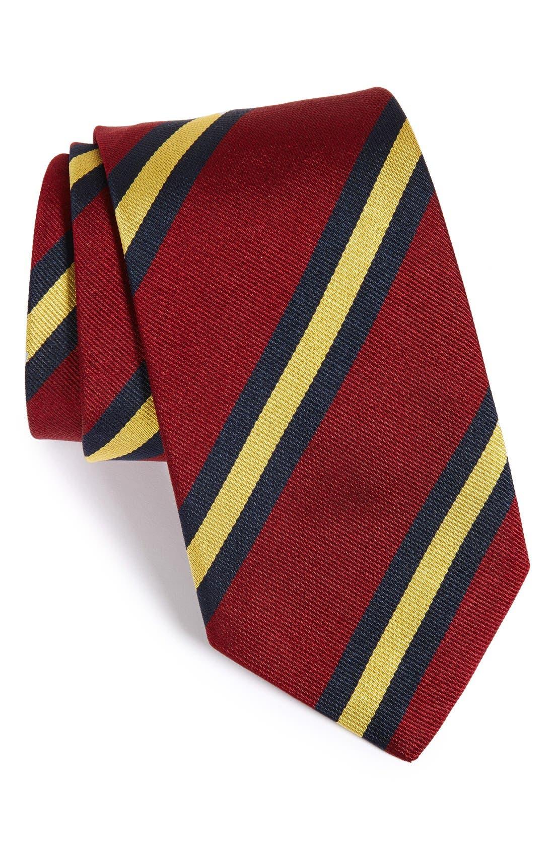 GITMAN,                             Stripe Silk Tie,                             Main thumbnail 1, color,                             930
