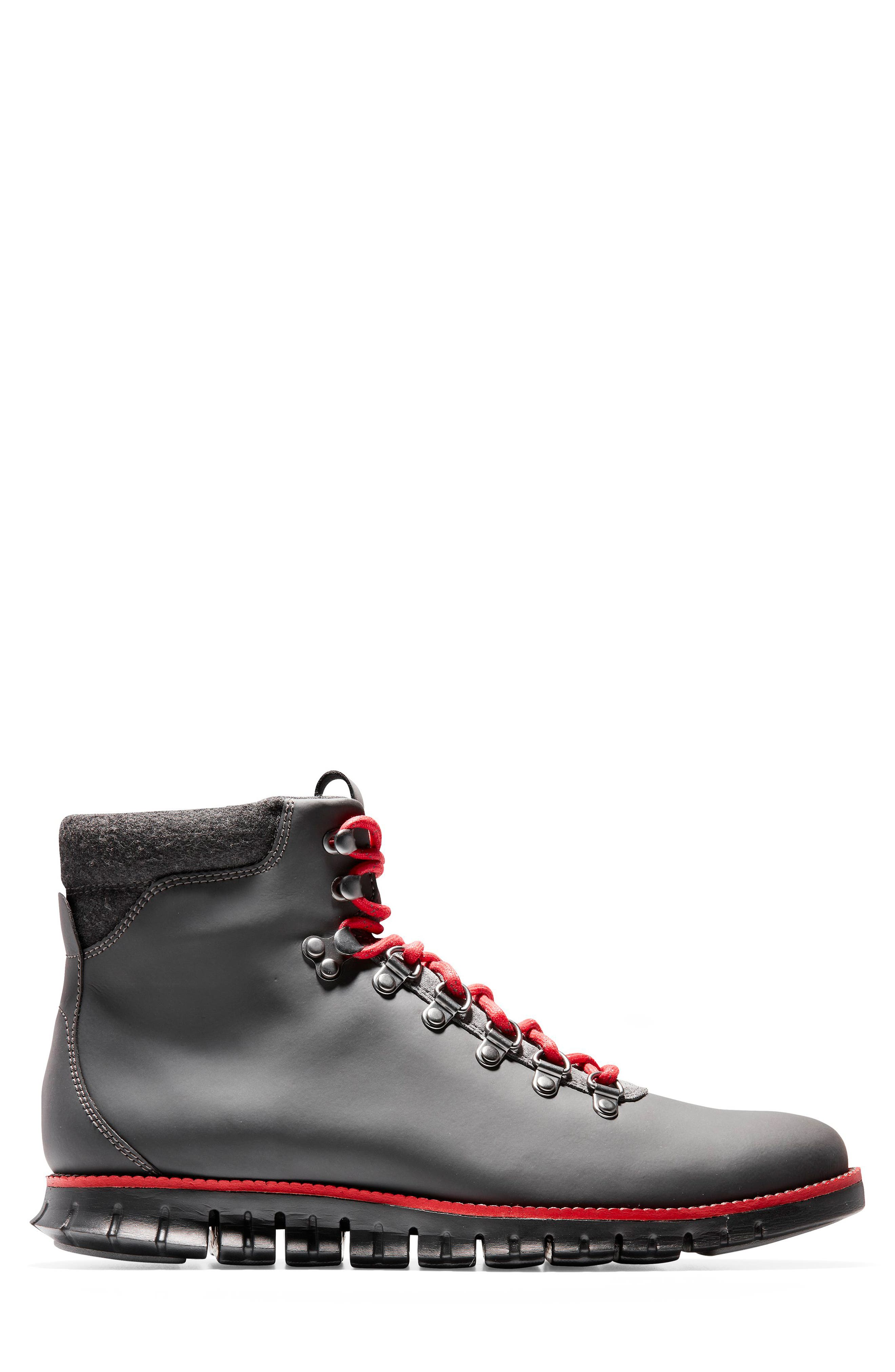 ZeroGrand Water Resistant Hiker Boot,                             Alternate thumbnail 3, color,                             MAGNET LEATHER