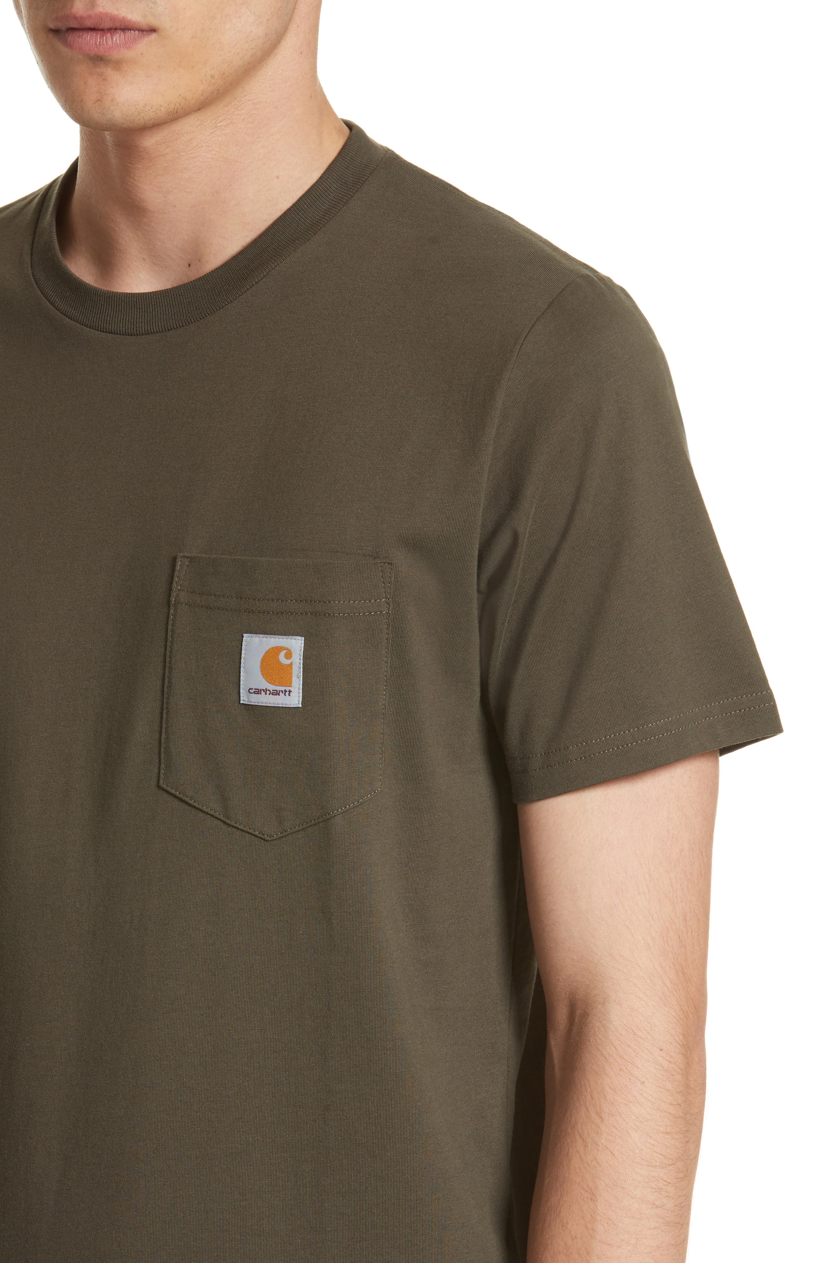 Logo Pocket T-Shirt,                             Alternate thumbnail 4, color,                             CYPRESS