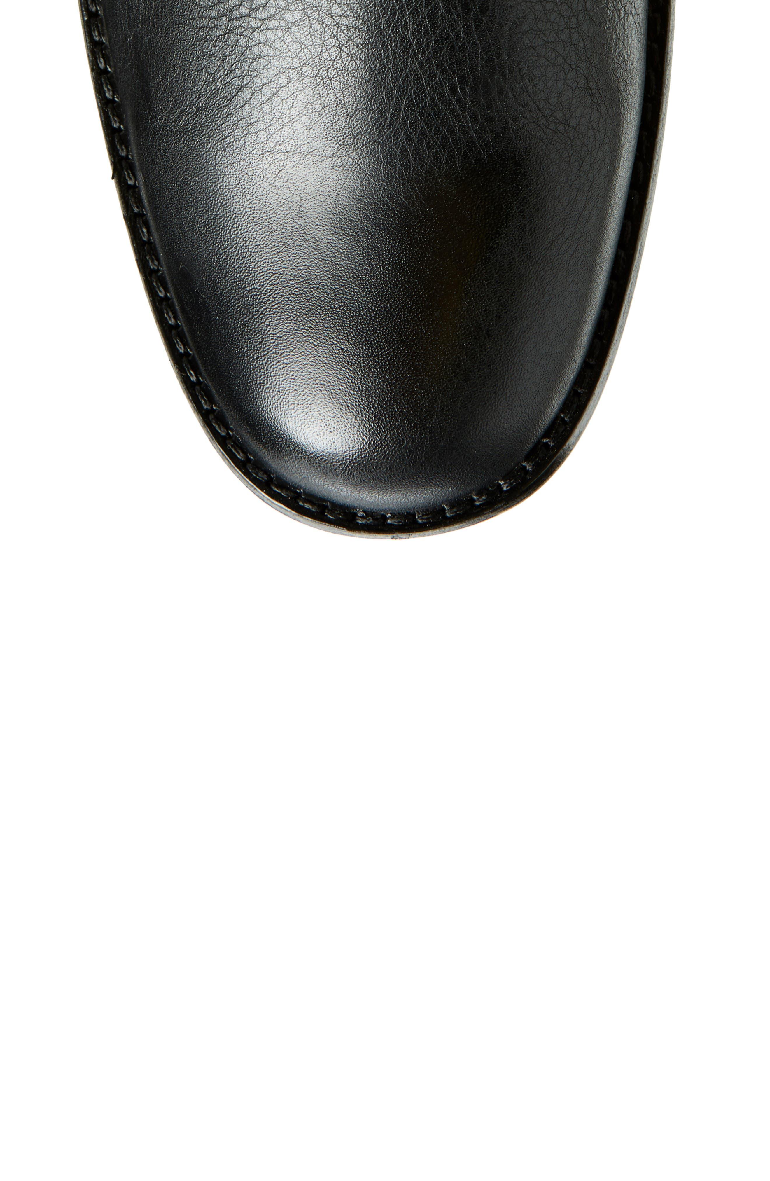 Phillip Harness Tall Boot,                             Alternate thumbnail 5, color,                             BLACK