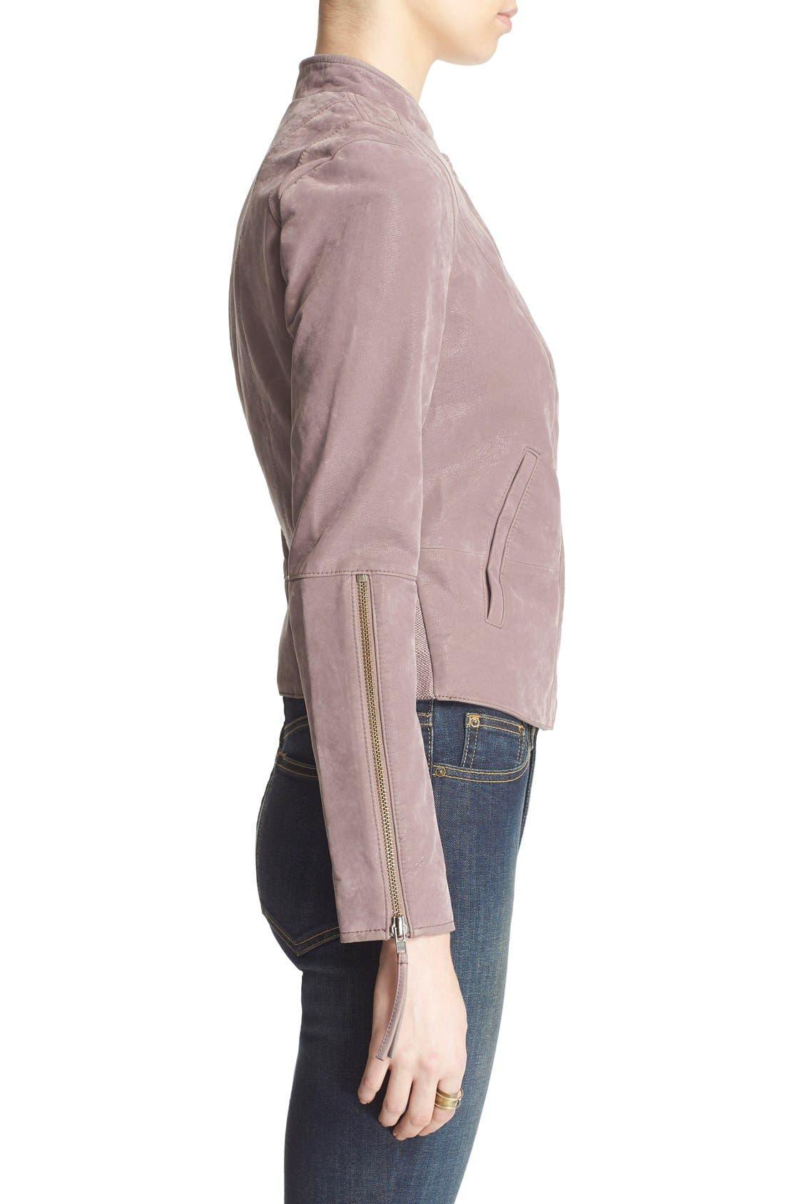 Faux Leather Jacket,                             Alternate thumbnail 21, color,
