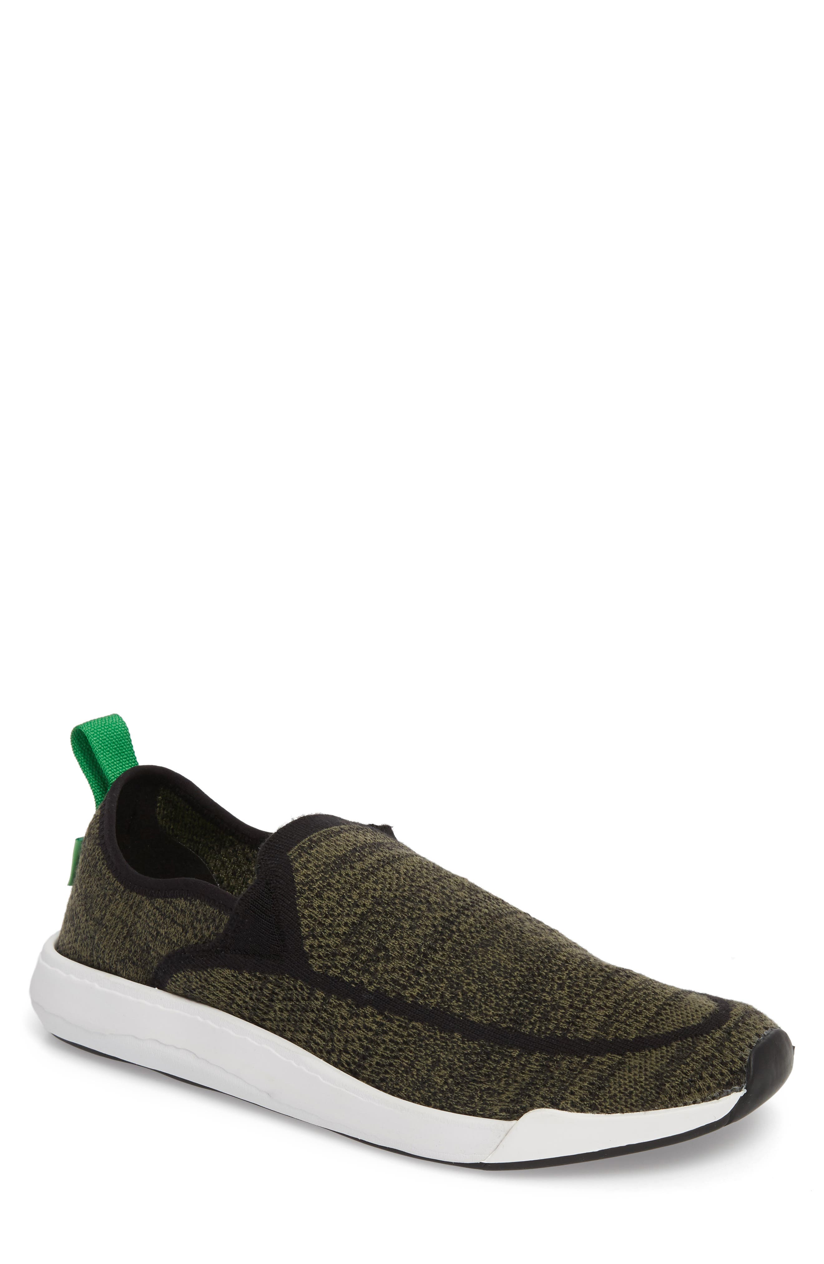 Chiba Quest Knit Slip-On Sneaker,                         Main,                         color, OLIVE