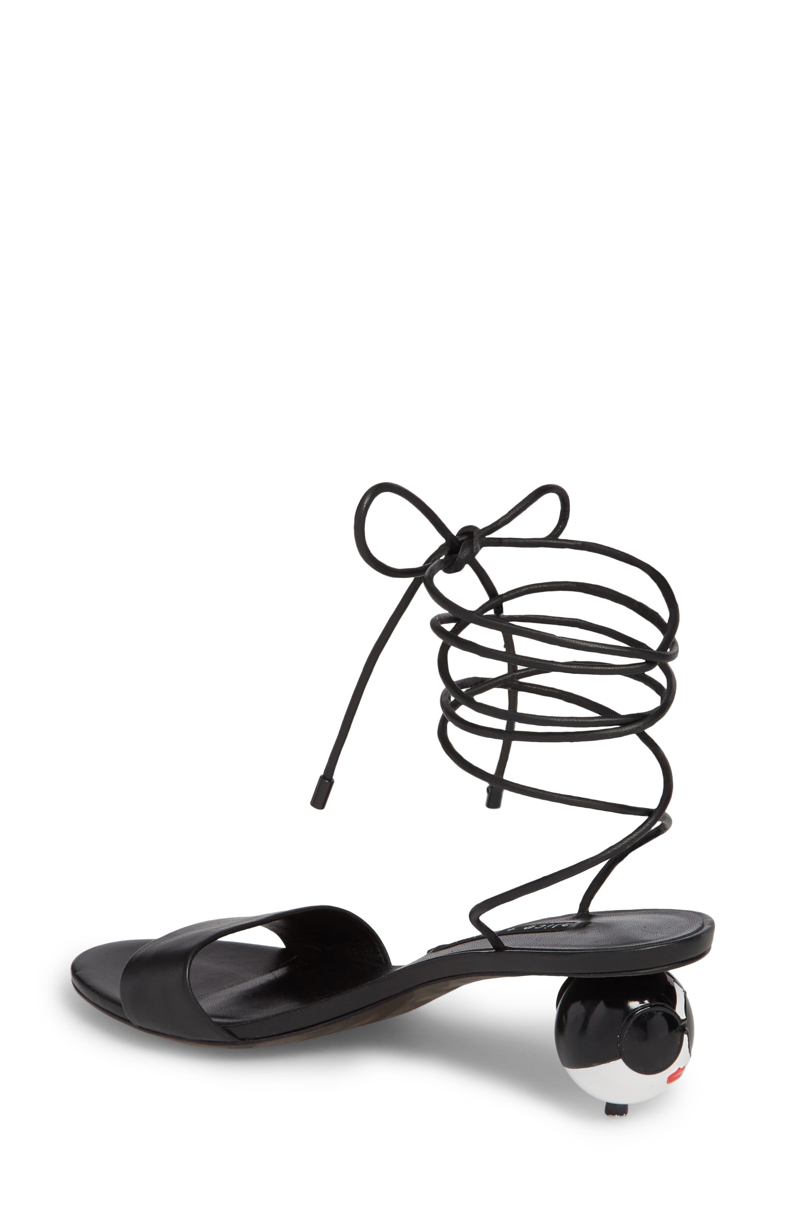 Coraline Ankle Tie Sandal,                             Alternate thumbnail 2, color,                             001