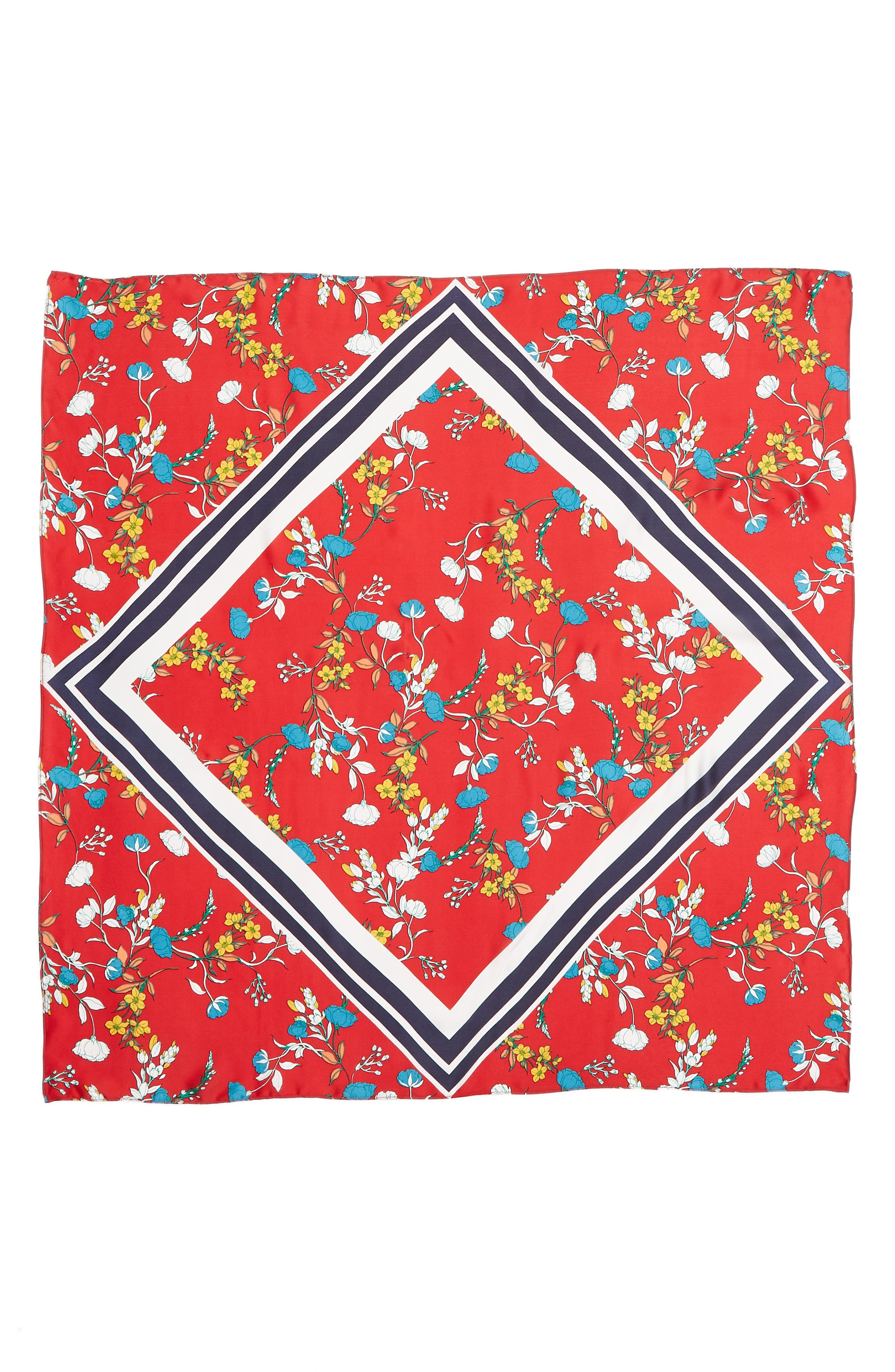 Print Silk Scarf,                             Alternate thumbnail 38, color,