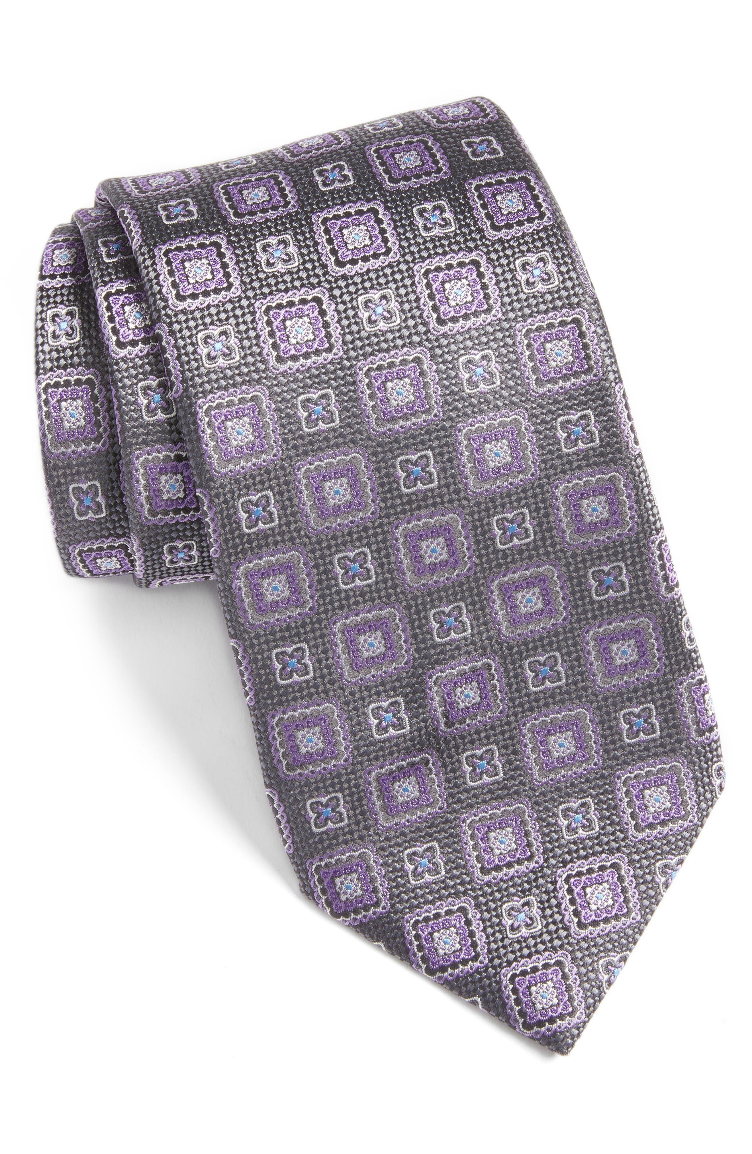 Medallion Silk Tie,                         Main,                         color, 020