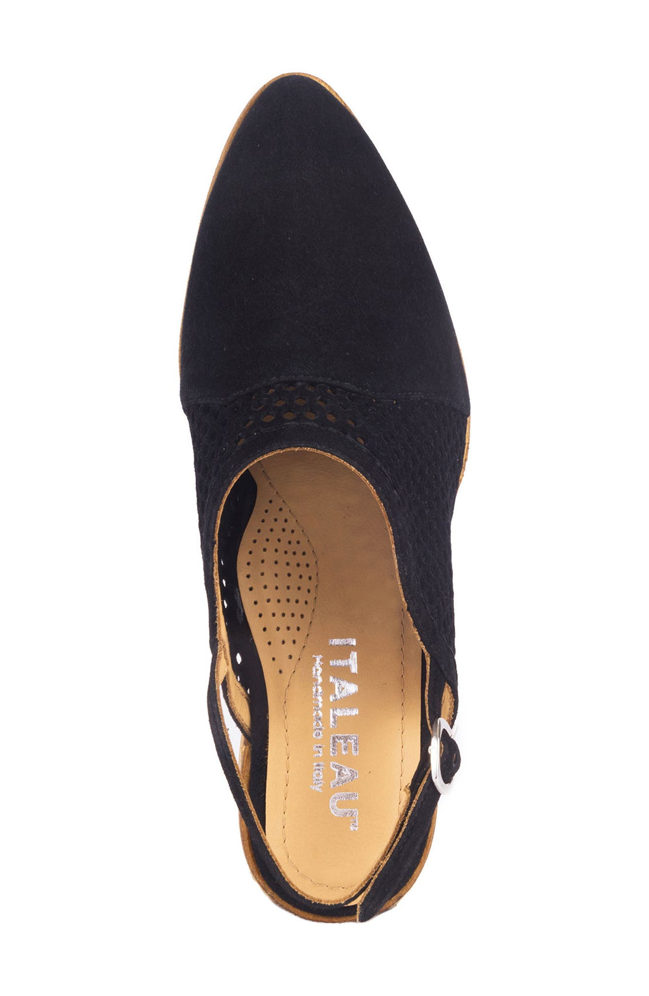 Toselli Water Resistant Slingback Bootie,                             Alternate thumbnail 5, color,                             NERO