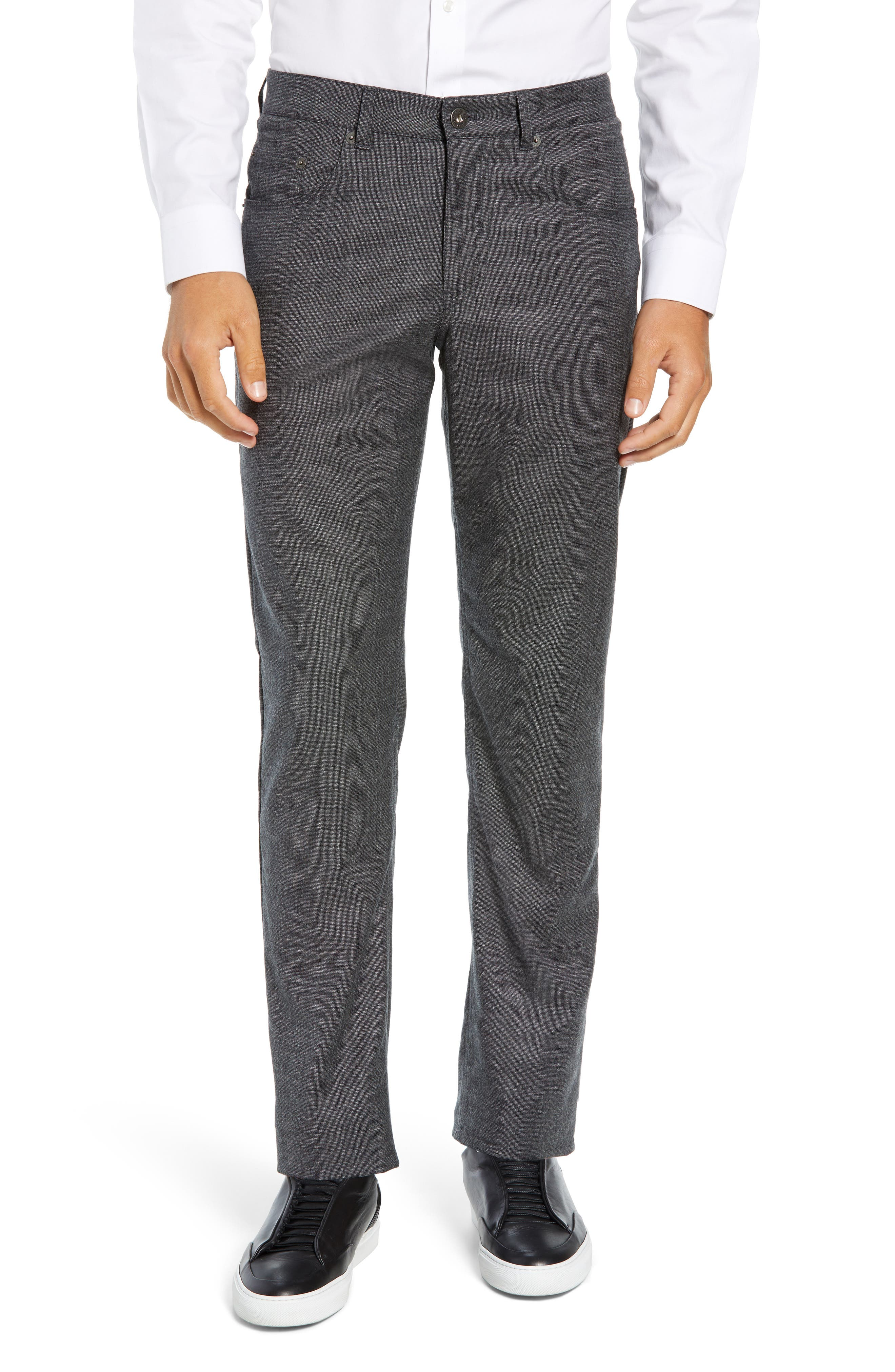 Cadiz Five Pocket Stretch Wool Trousers,                             Main thumbnail 1, color,                             GRAPHITE