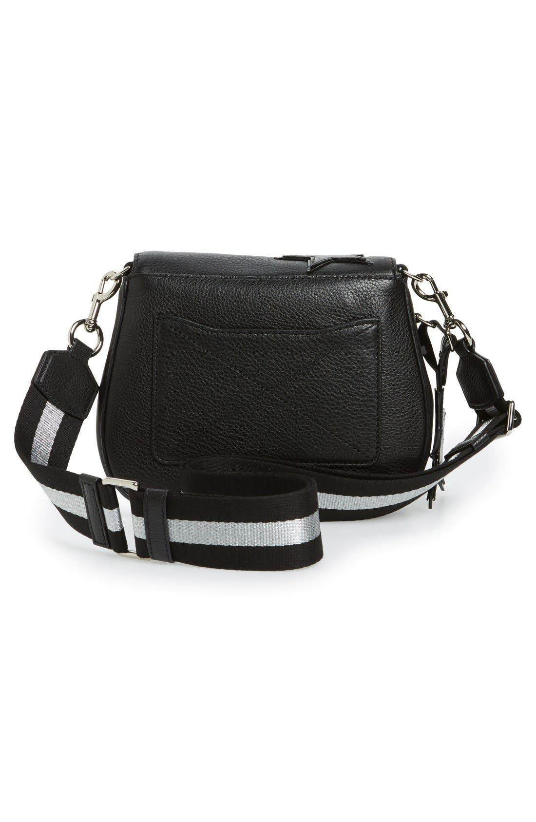MARC JACOBS,                             'Star' Leather Crossbody Bag,                             Alternate thumbnail 4, color,                             002