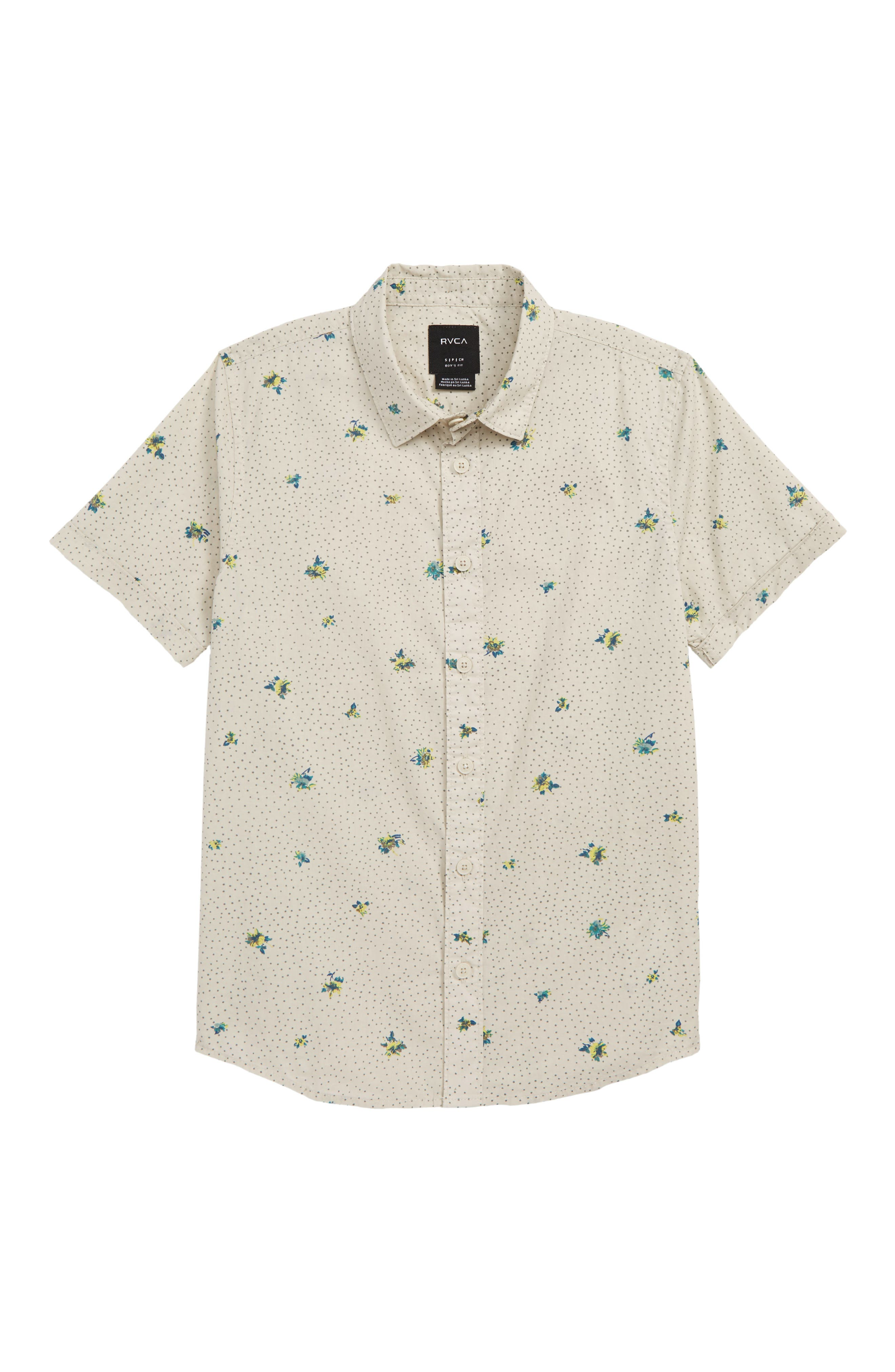 Scattered Woven Shirt,                         Main,                         color, SILVER BLEACH
