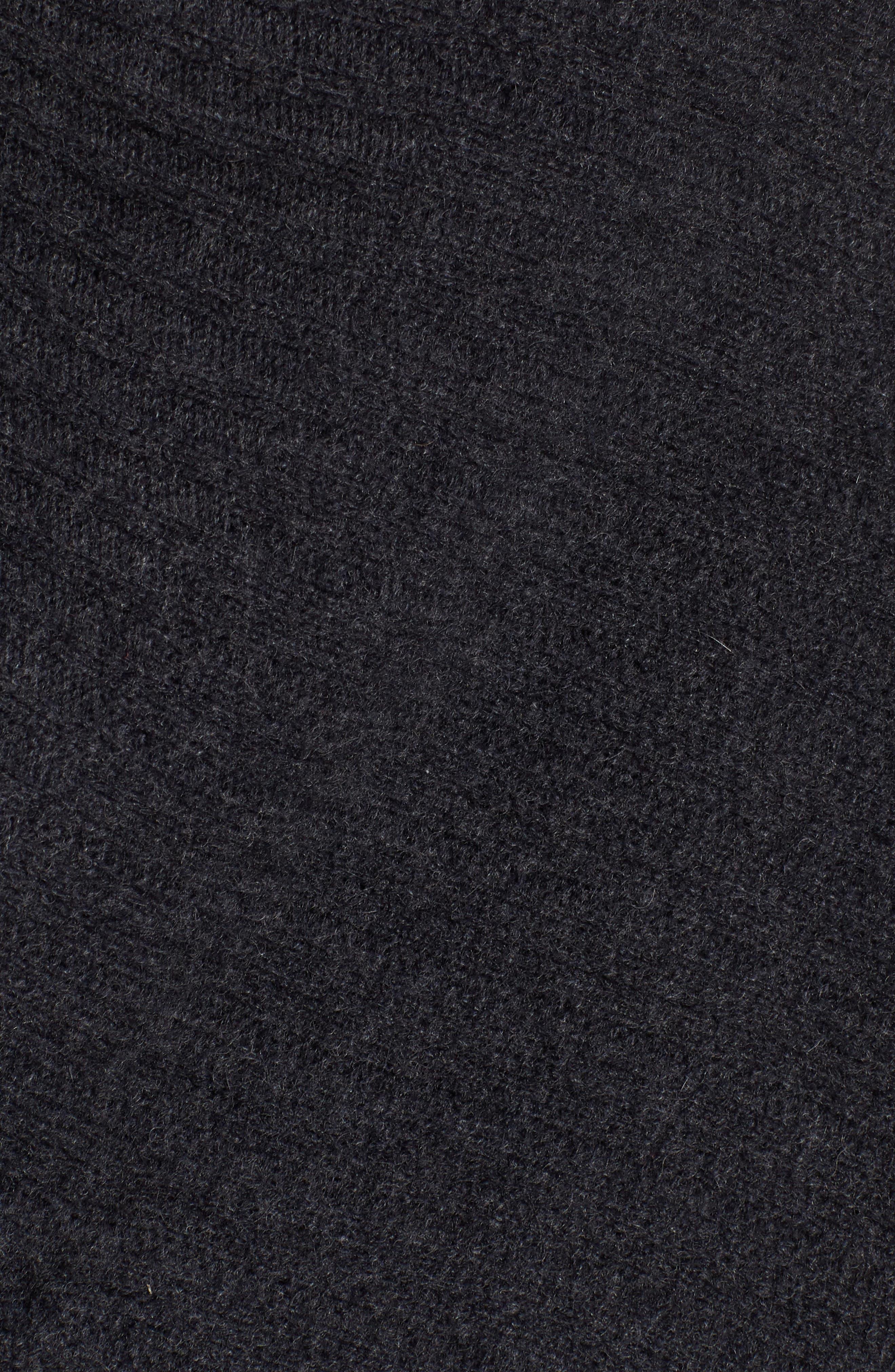 Ribbed Cashmere Wrap,                             Alternate thumbnail 5, color,                             001