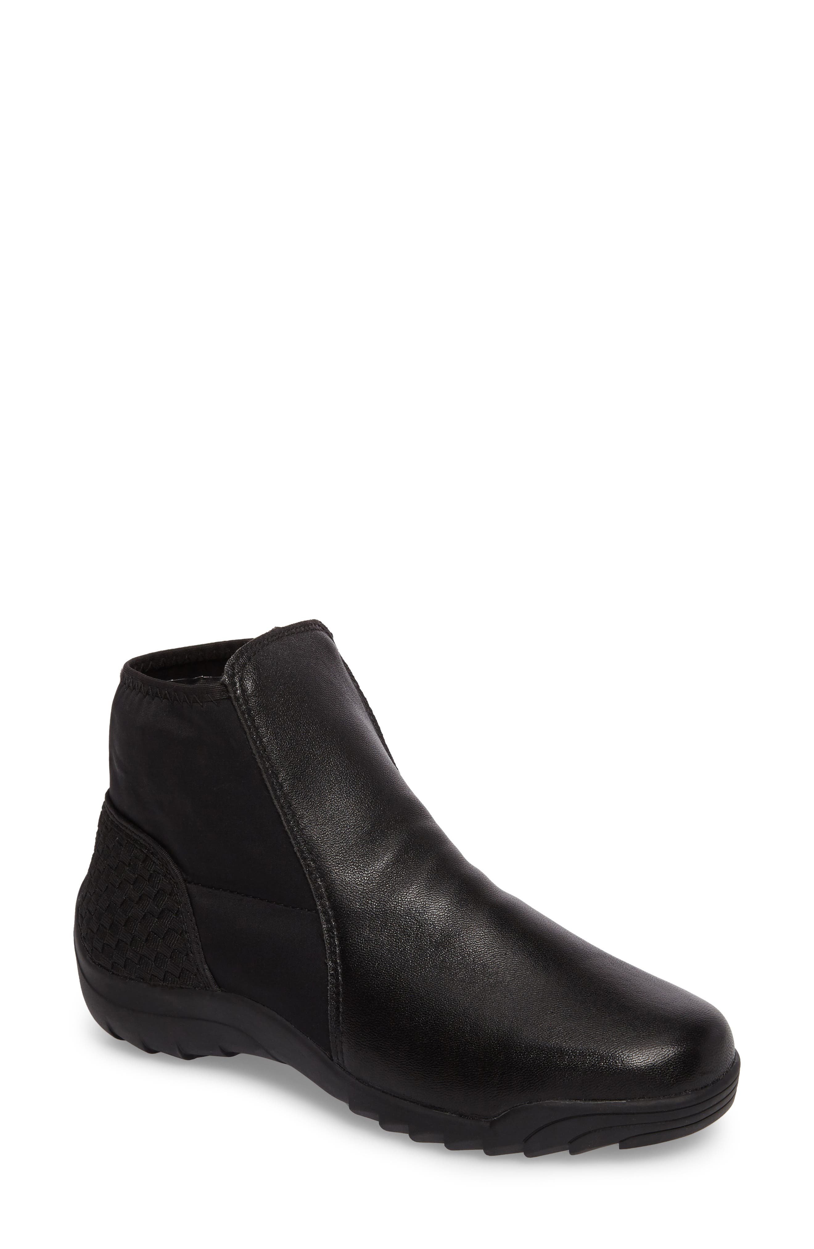 Rigged Force Sneaker,                         Main,                         color, BLACK LEATHER