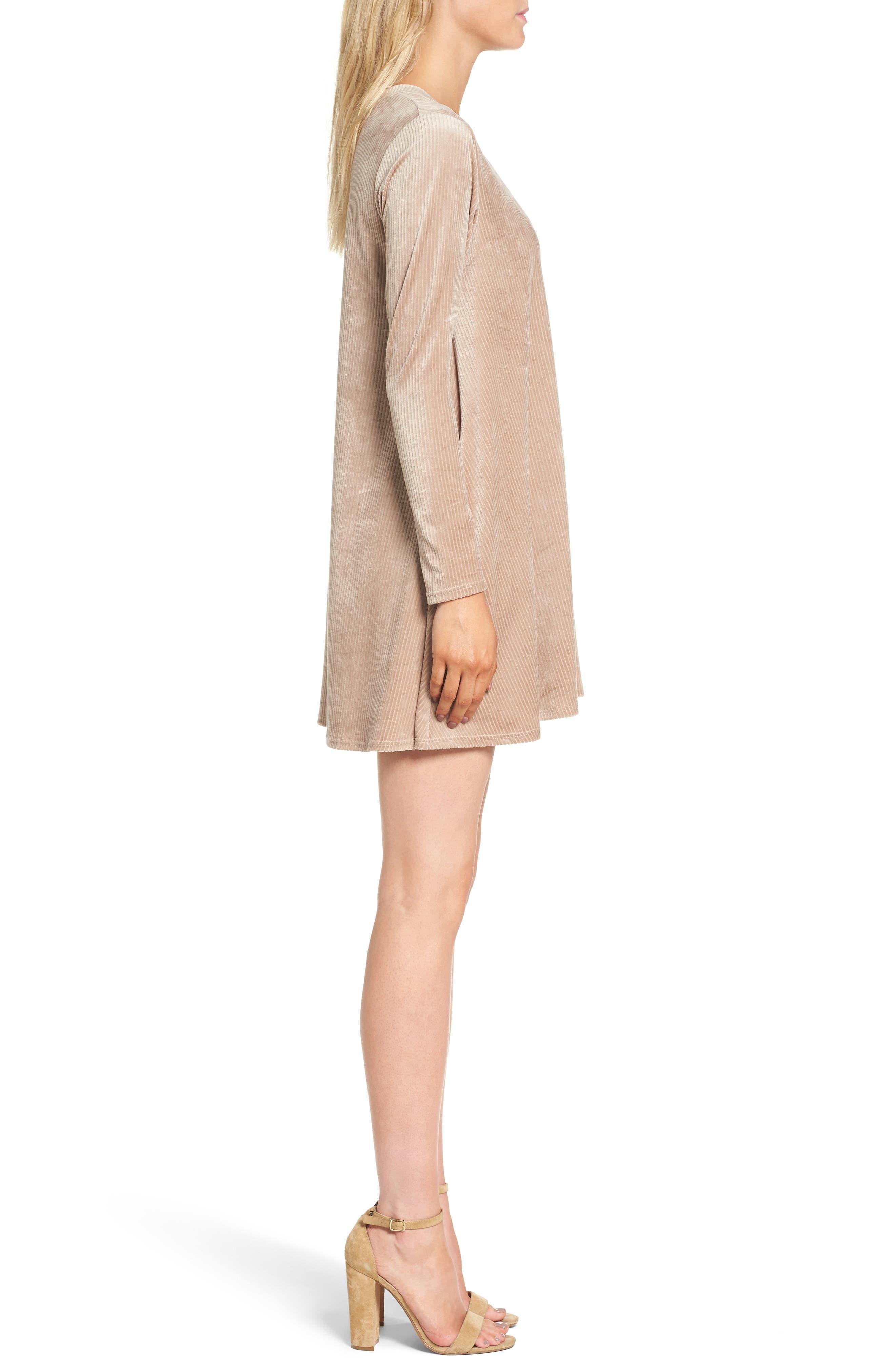 Hannah Velvet Shift Dress,                             Alternate thumbnail 6, color,