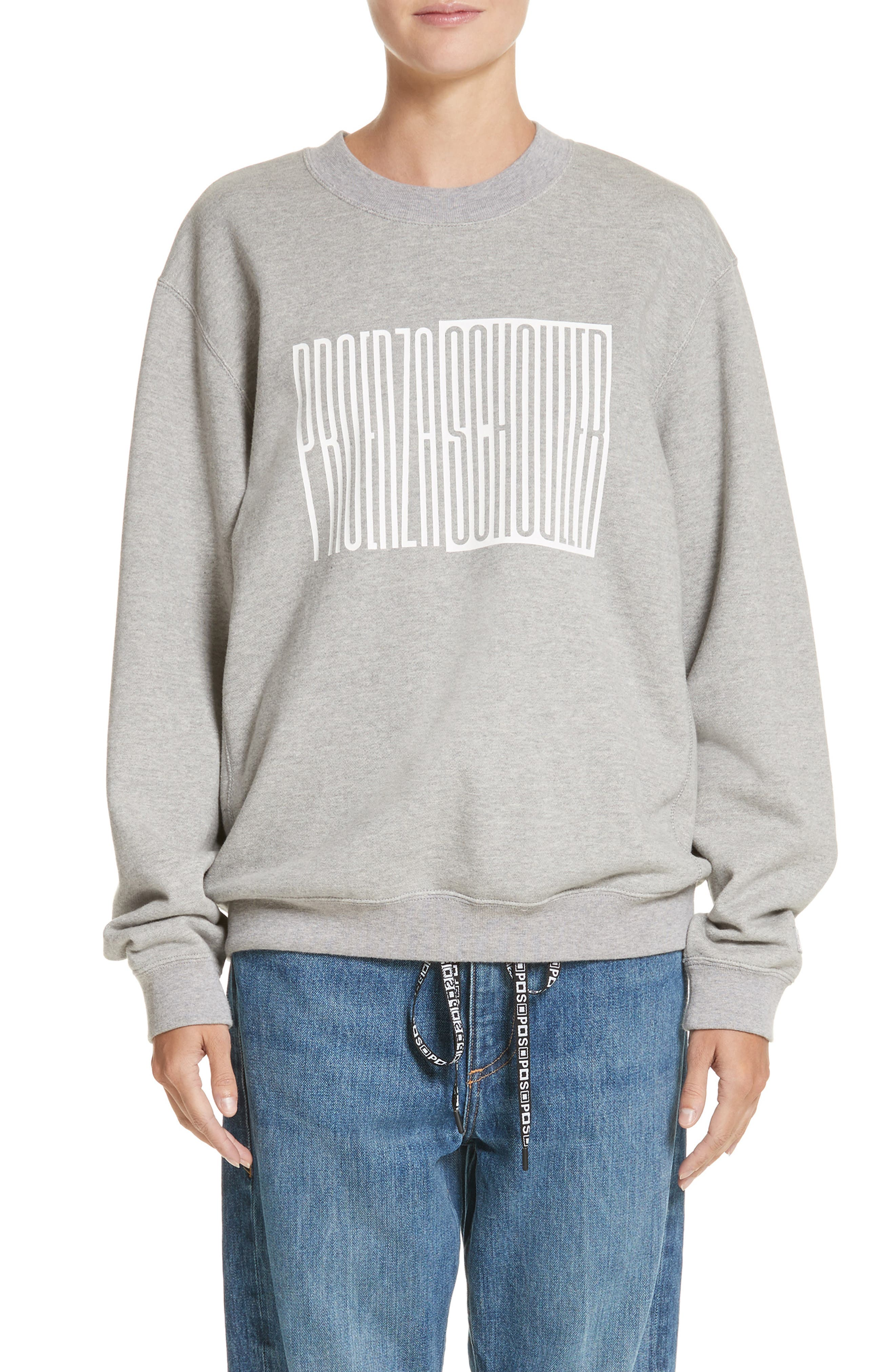 PSWL Graphic Jersey Oversize Sweatshirt,                             Main thumbnail 1, color,                             082