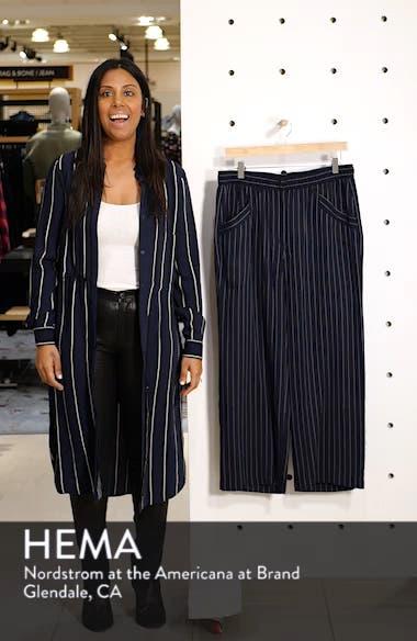 Pinstripe Crop Wide-Leg Pants, sales video thumbnail