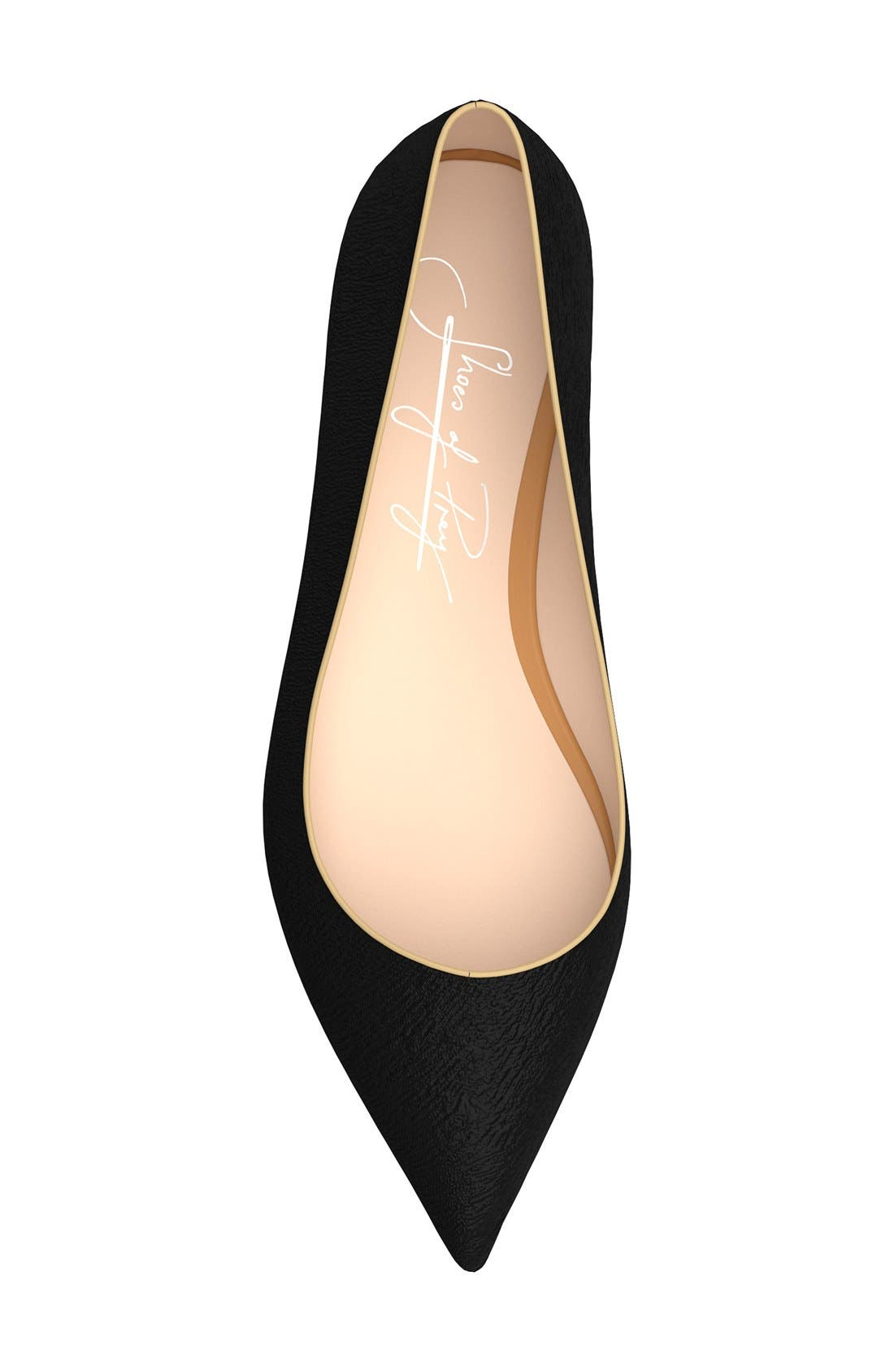 Pointy Toe Flat,                             Alternate thumbnail 3, color,                             001