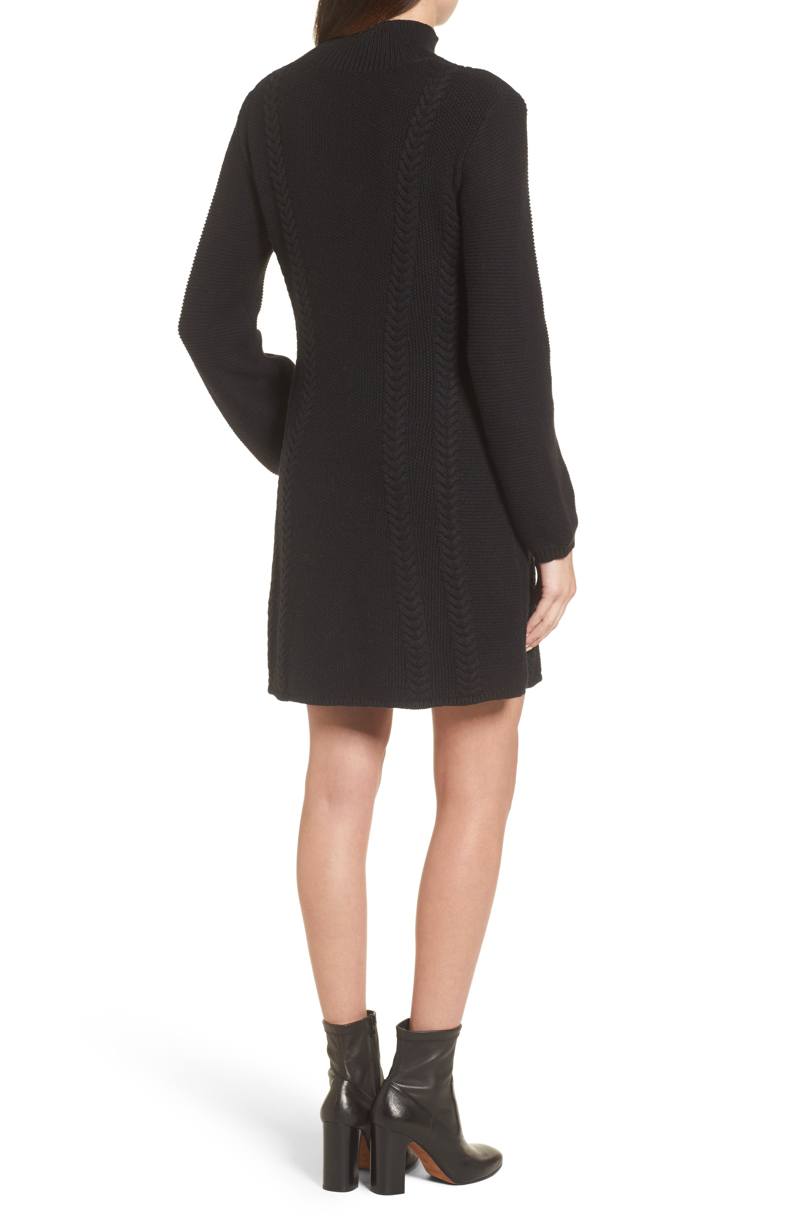 Cable Knit Sweater Dress,                             Alternate thumbnail 3, color,