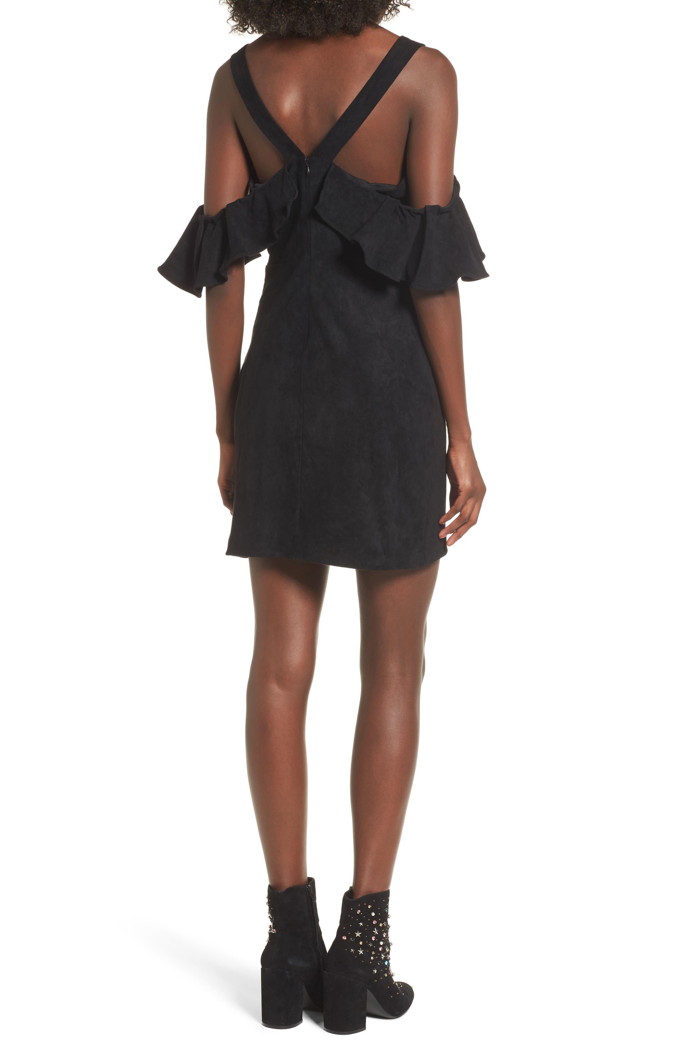 Deane Cold Shoulder Sheath Dress,                             Alternate thumbnail 2, color,                             001