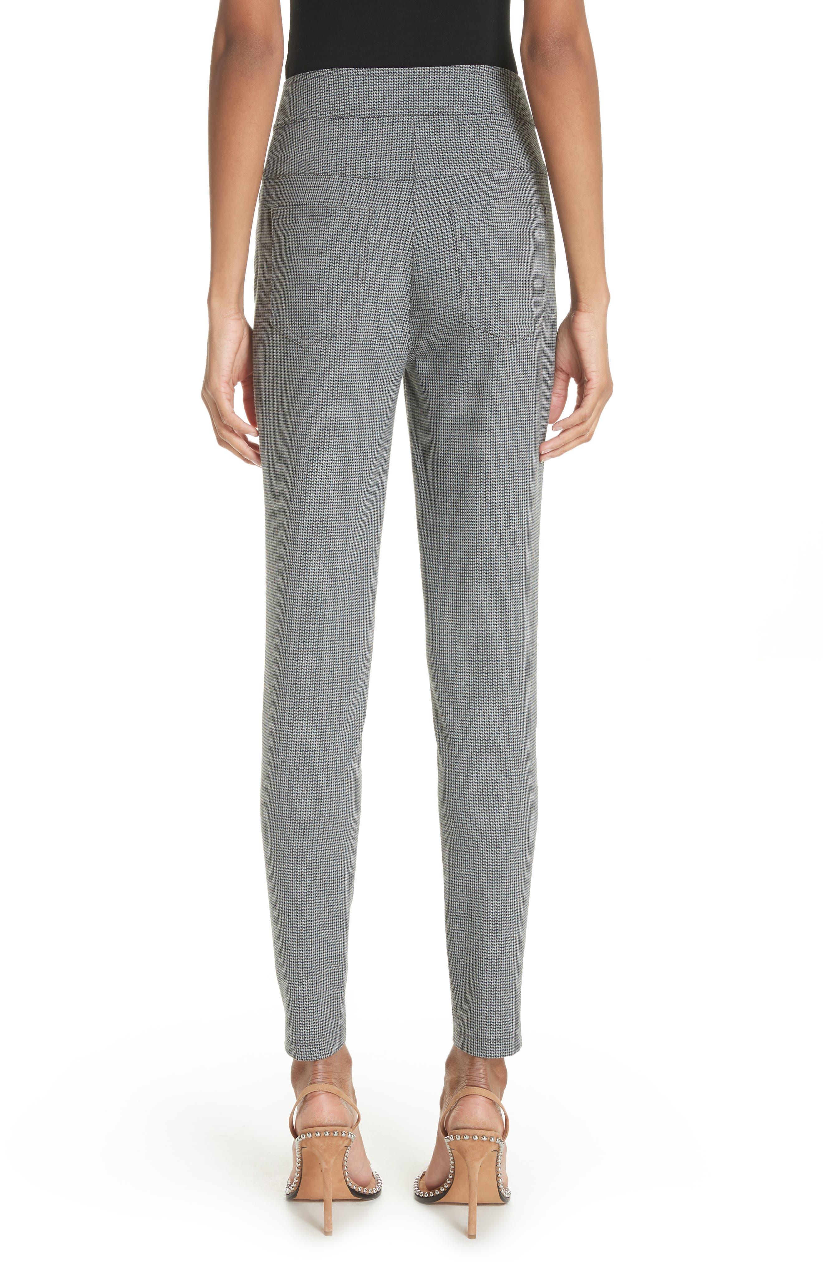 ALEXANDER WANG,                             Skinny Plaid Pants,                             Alternate thumbnail 2, color,                             020