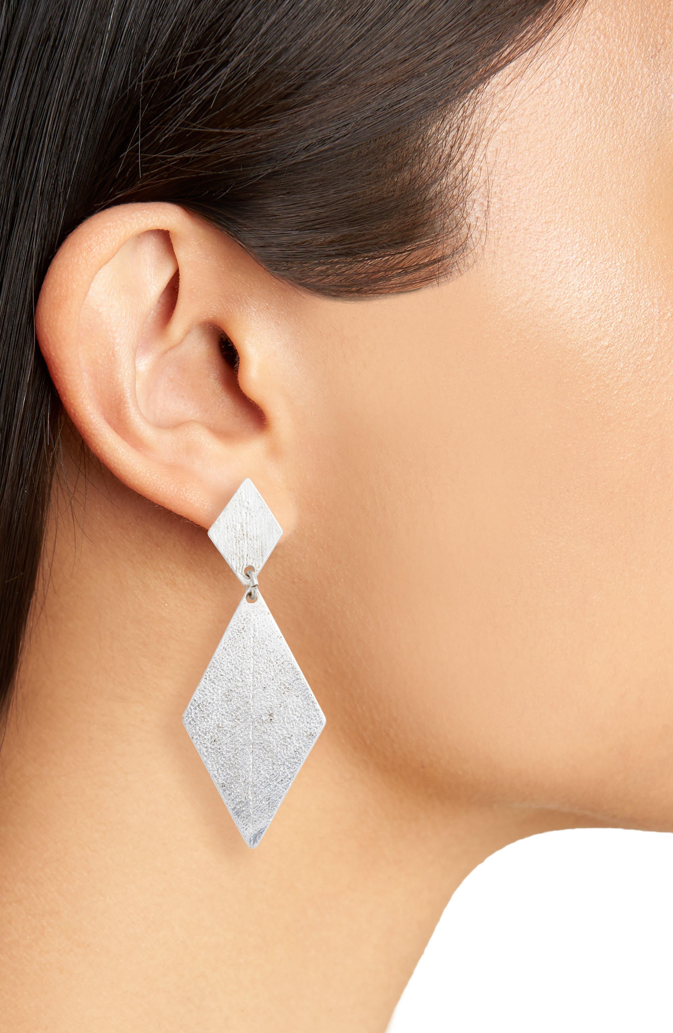 Kite Earrings,                             Alternate thumbnail 2, color,                             SILVER