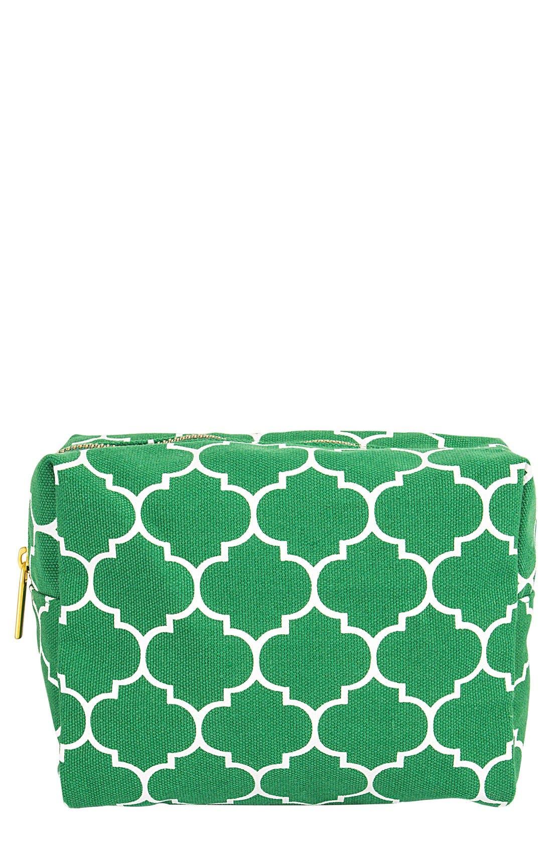 Monogram Cosmetics Bag,                             Main thumbnail 1, color,                             GREEN