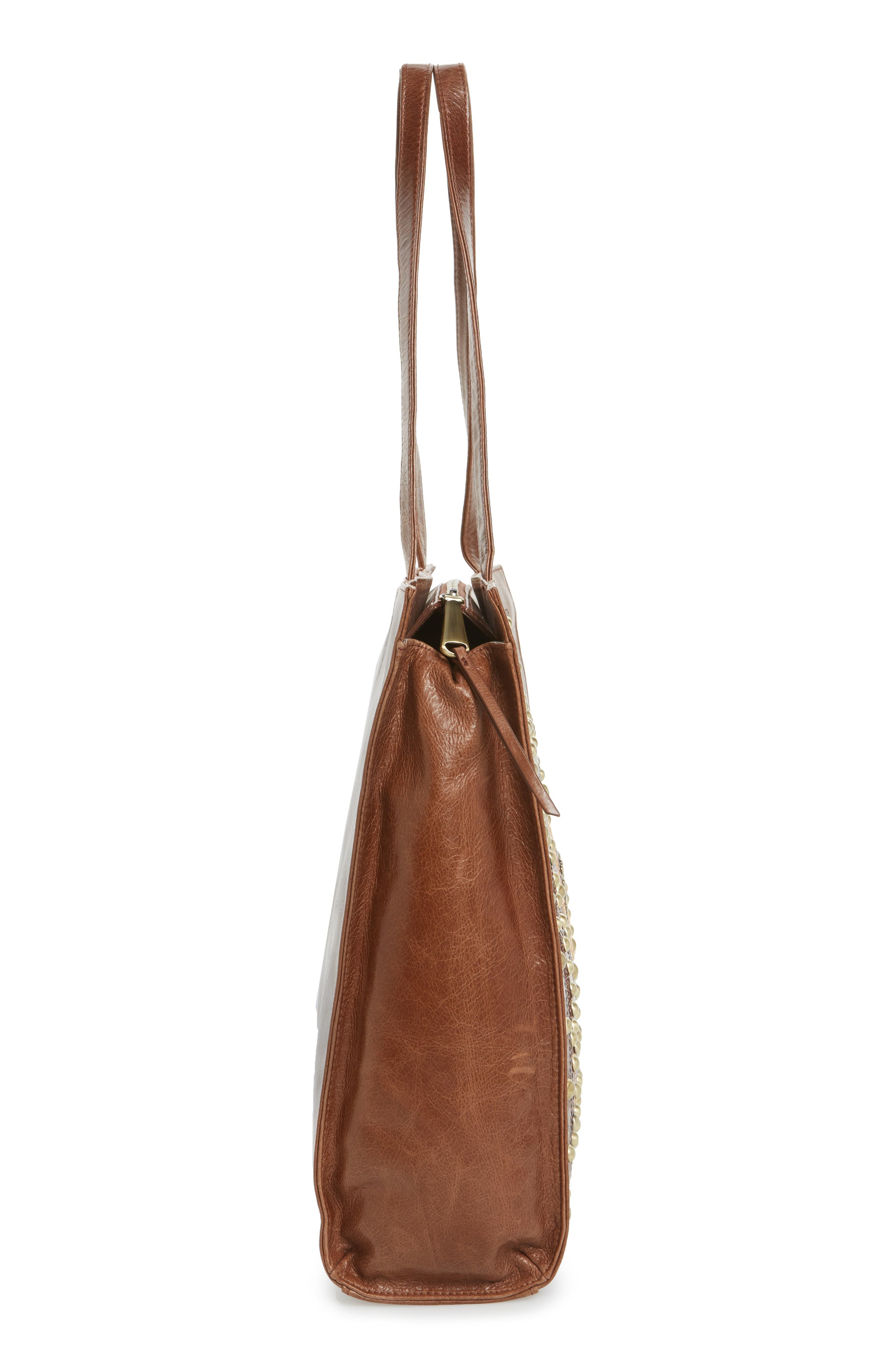 Avalon Studded Calfskin Leather Tote,                             Alternate thumbnail 15, color,