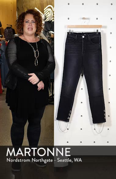 Bijou Chain Stirrup Ankle Skinny Jeans, sales video thumbnail