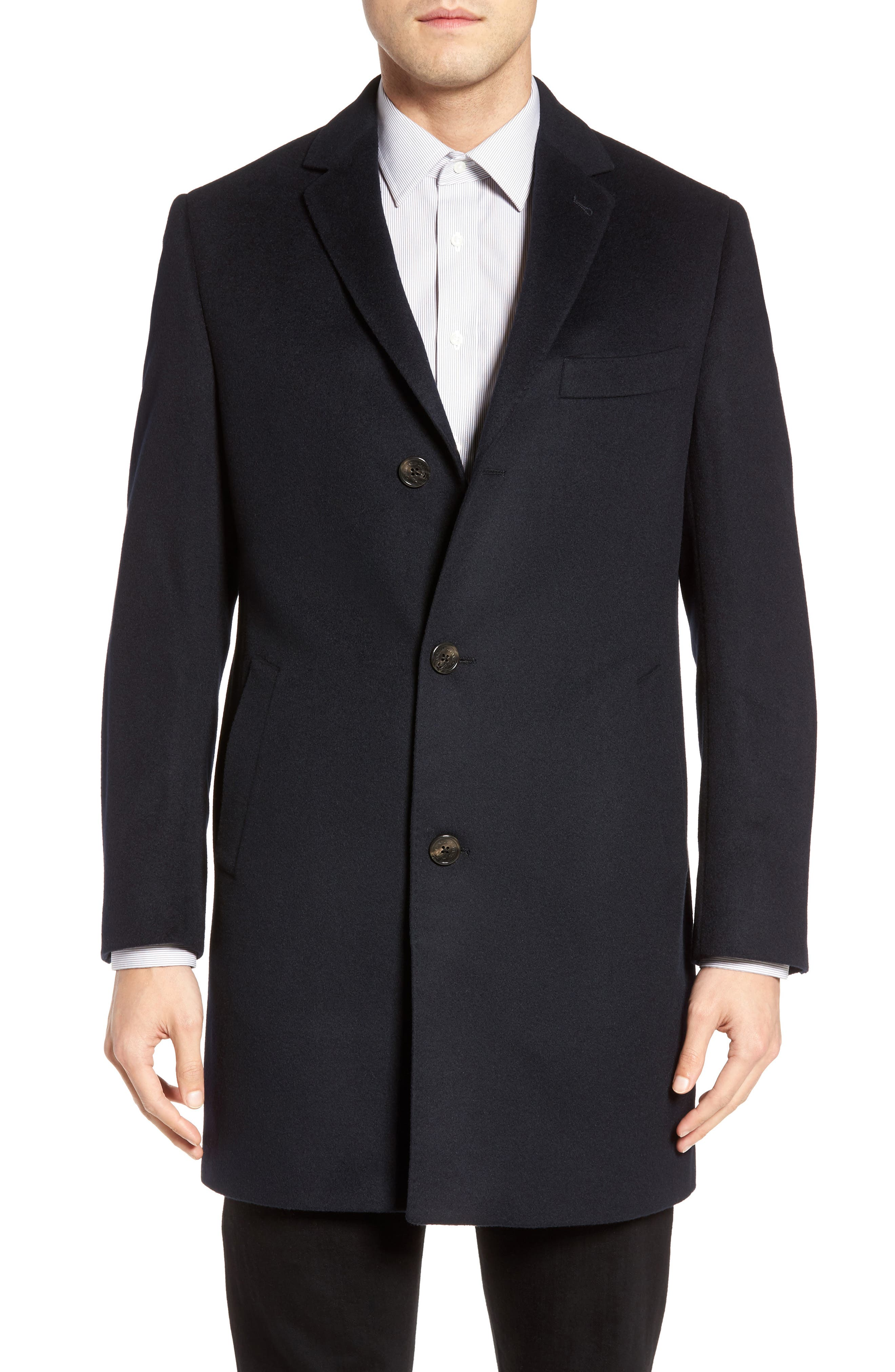 St. Paul Wool & Cashmere Topcoat,                         Main,                         color, 410
