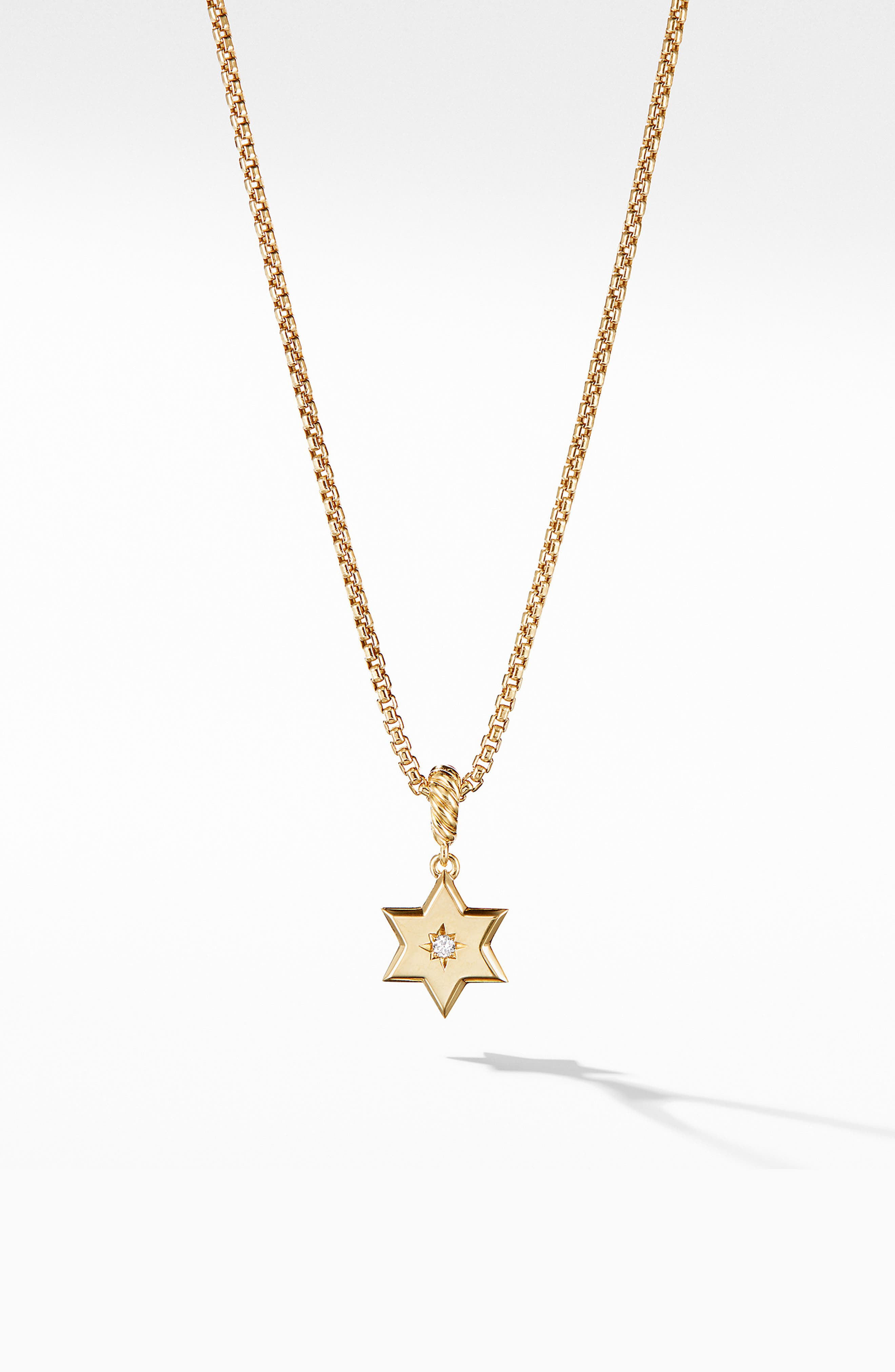 Star of David Pendant in 18K Yellow Gold with Diamonds,                         Main,                         color, YELLOW GOLD/ DIAMOND
