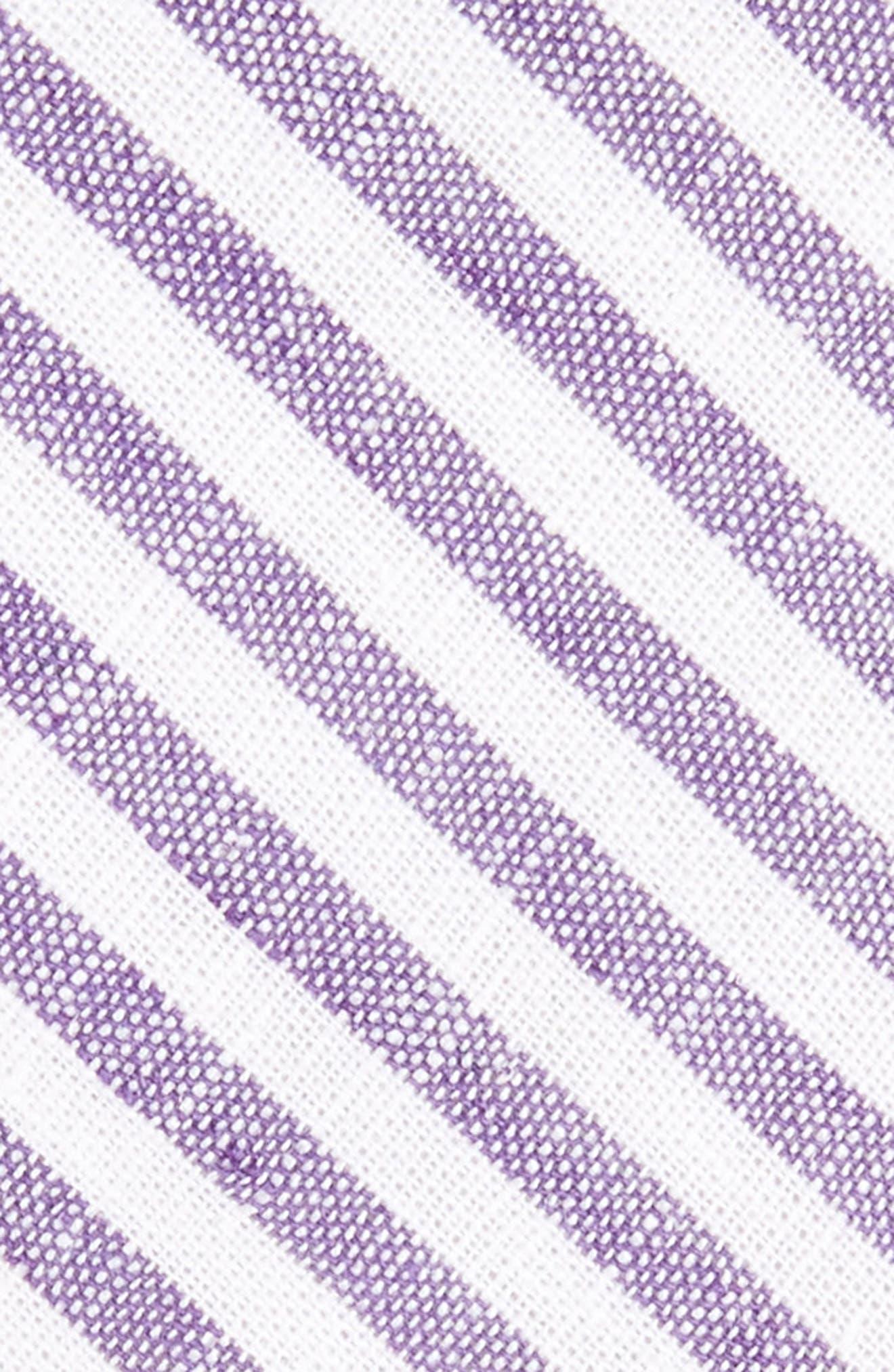 Stripe Cotton Tie,                             Alternate thumbnail 8, color,