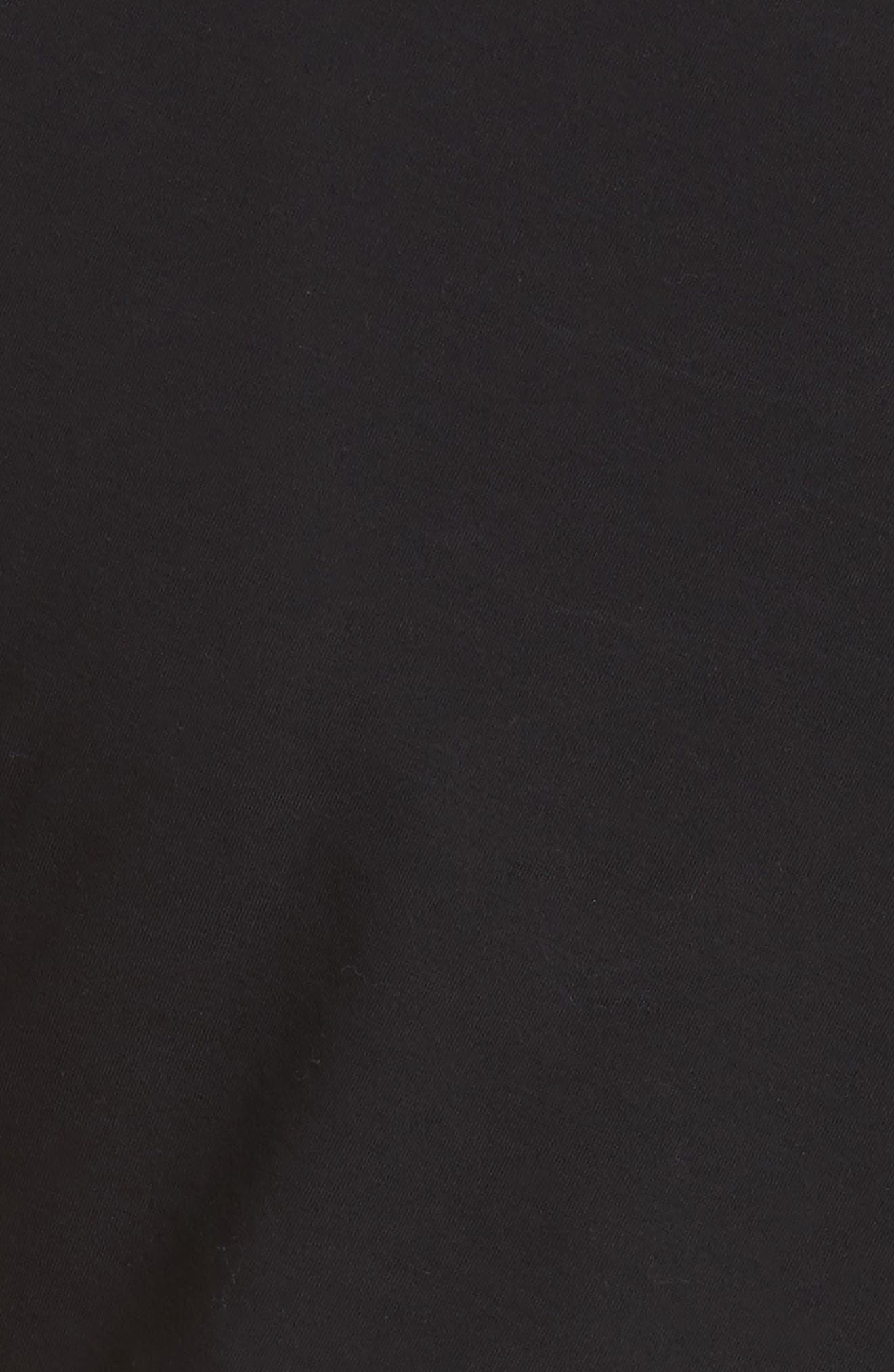 Knot Detail Dress,                             Alternate thumbnail 5, color,                             001