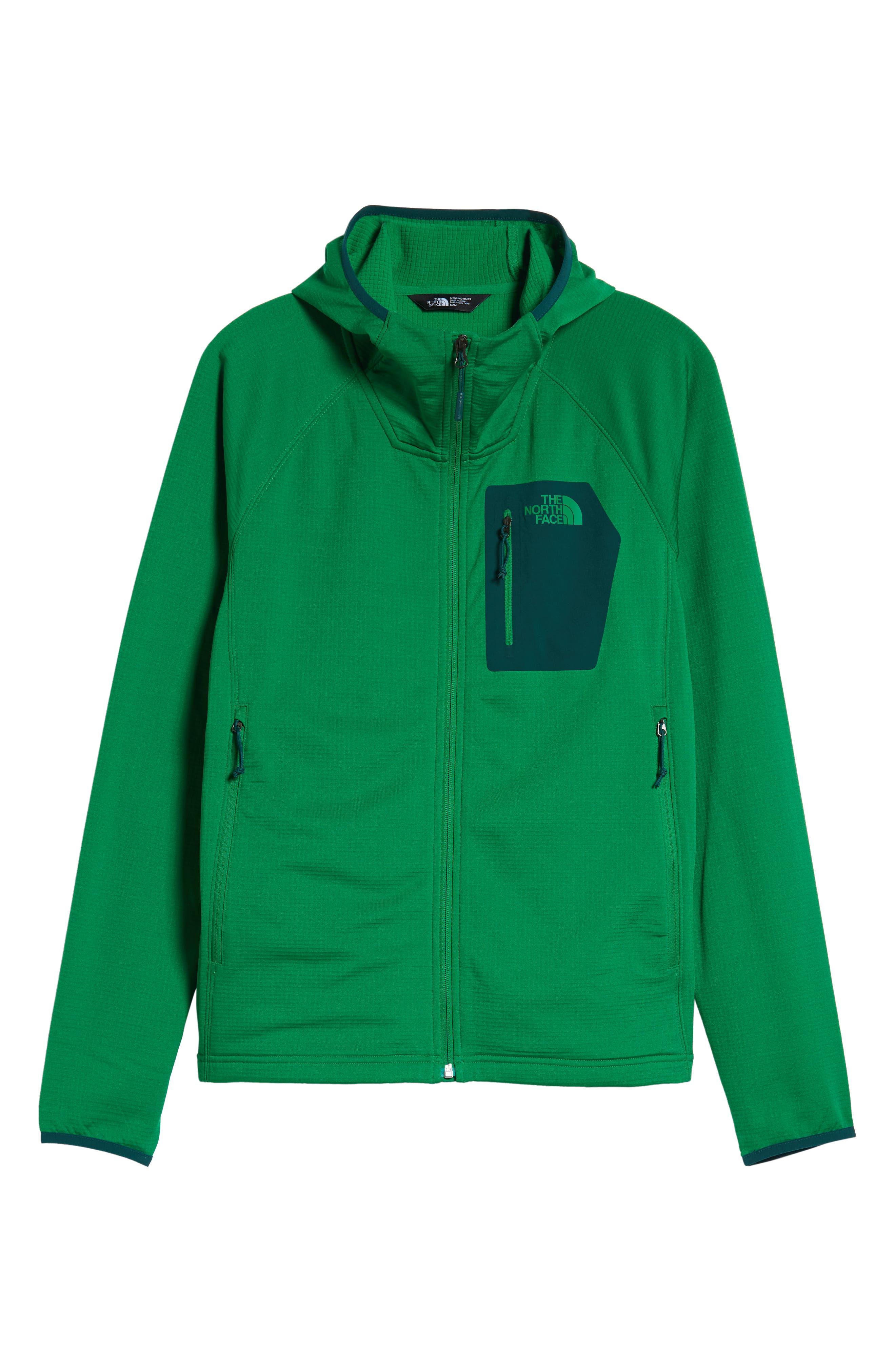 Borod Zip Fleece Jacket,                             Alternate thumbnail 6, color,                             PRIMARY GREEN/GARDEN GREEN