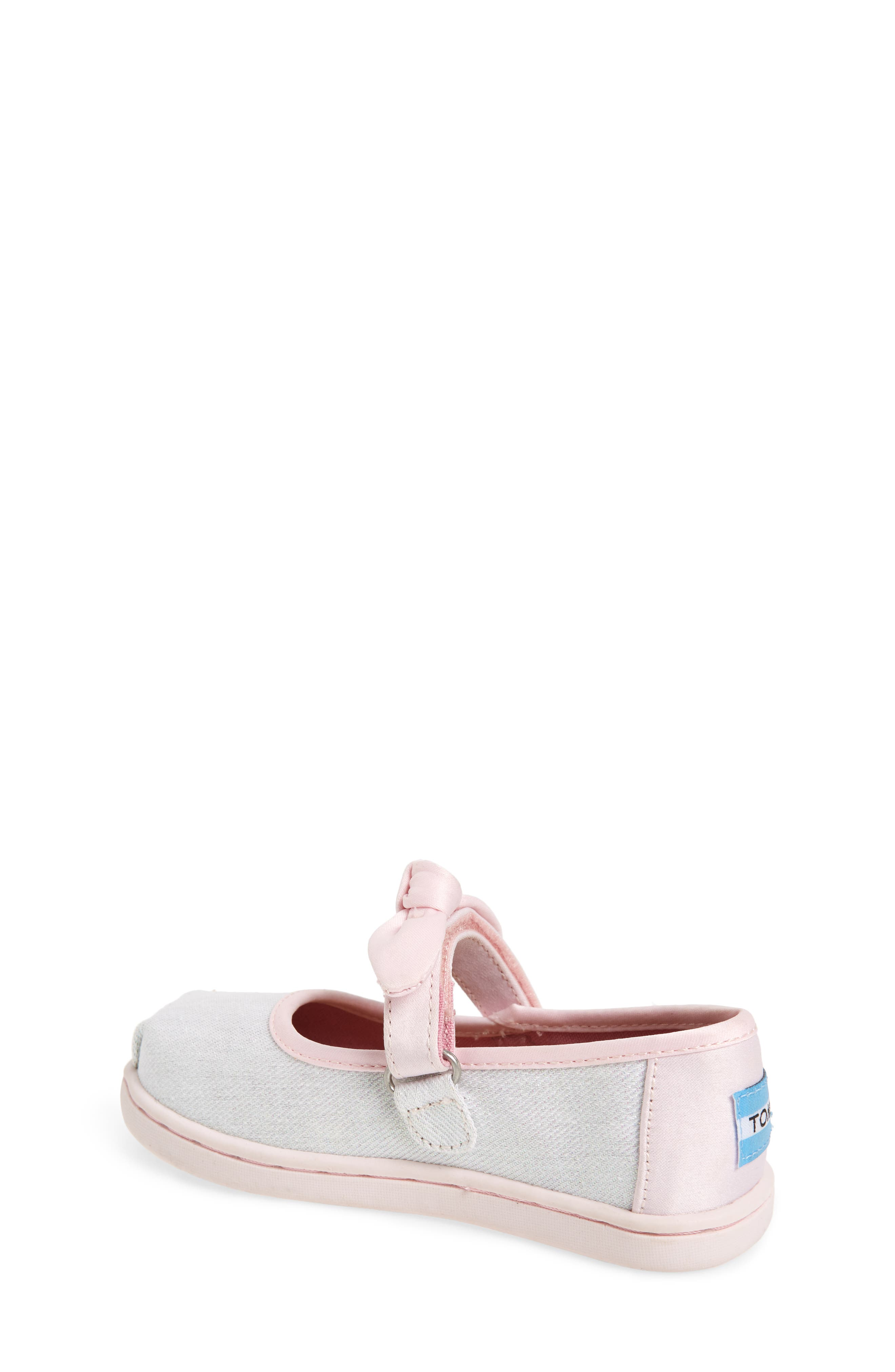 Bow Metallic Mary Jane Sneaker,                             Alternate thumbnail 2, color,                             IRIDESCENT TWILL GLIMMER