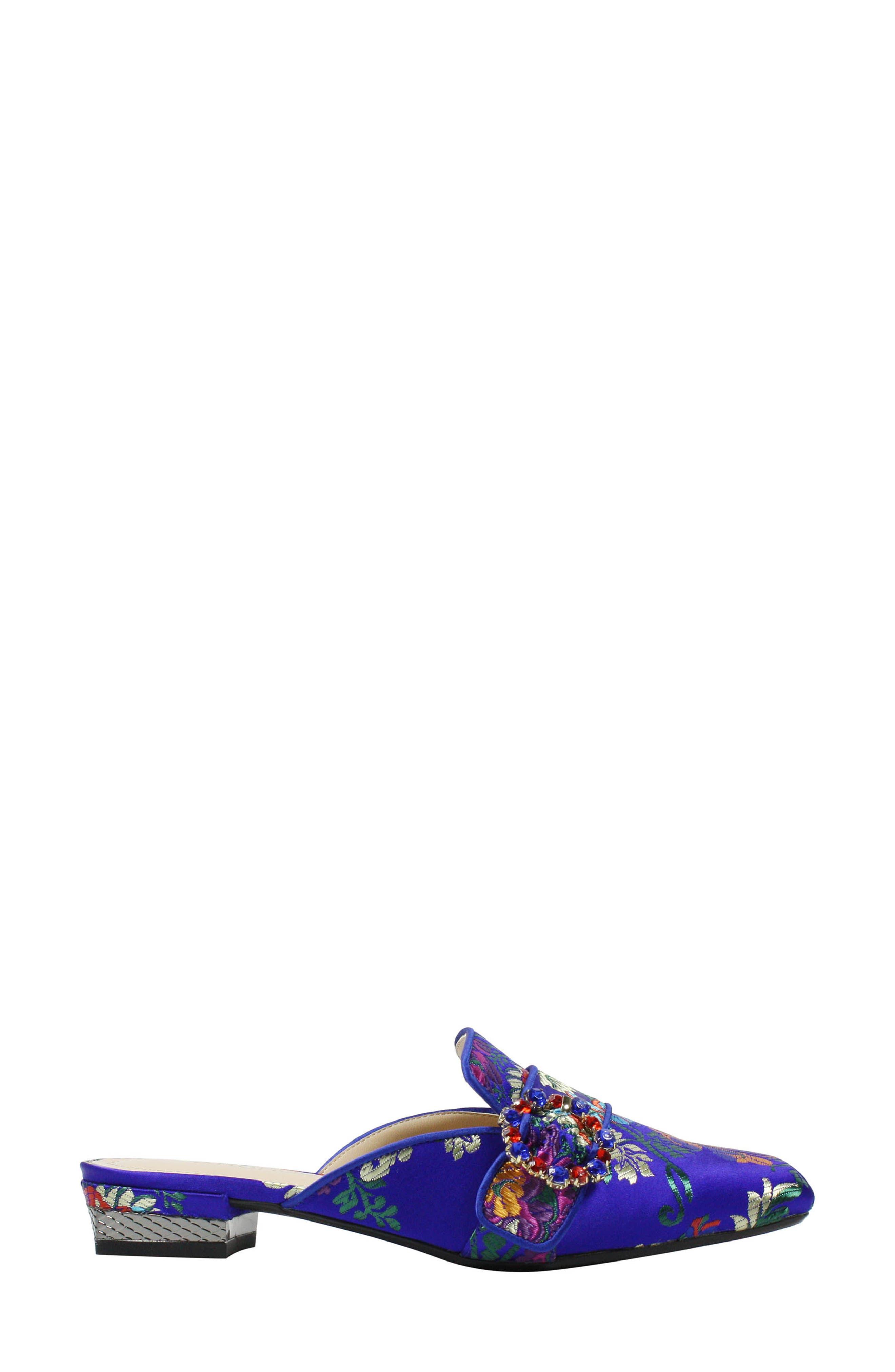 Senonches Mule,                             Alternate thumbnail 3, color,                             BLUE MULTI FABRIC