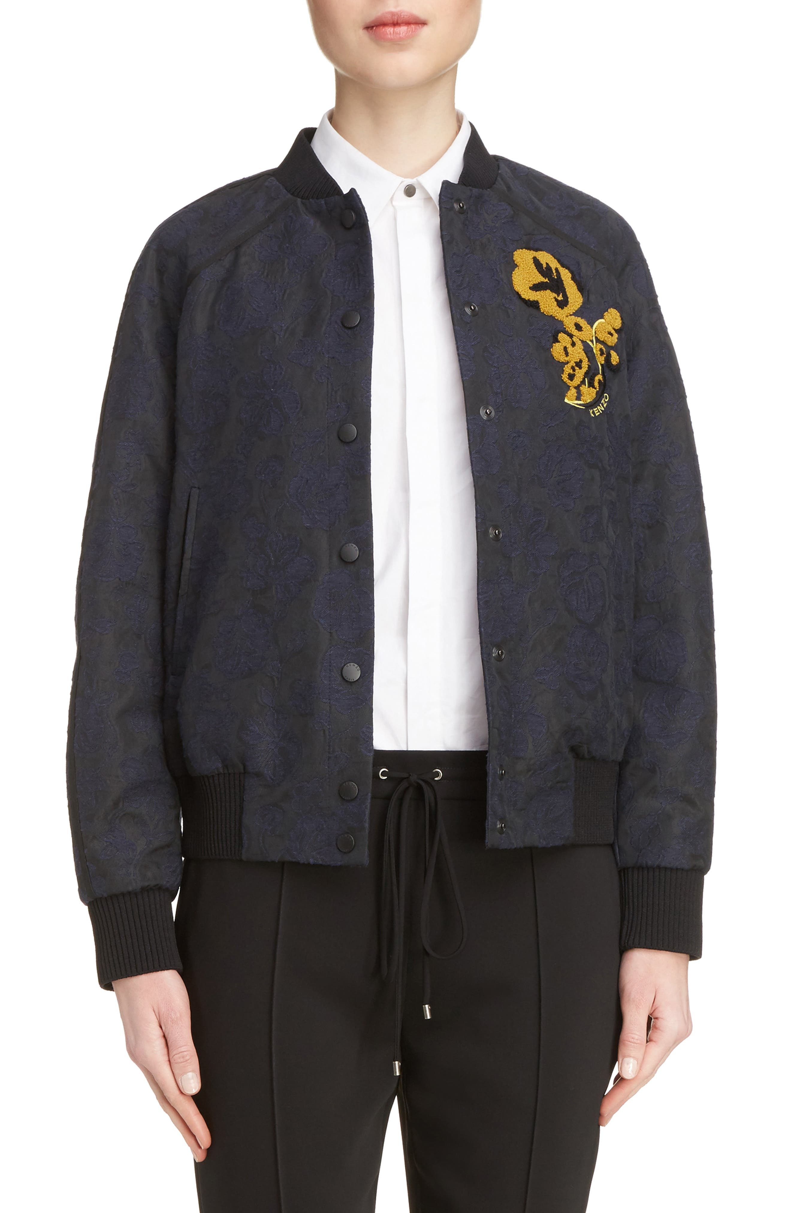 Jacquard Bomber Jacket,                             Main thumbnail 1, color,                             402