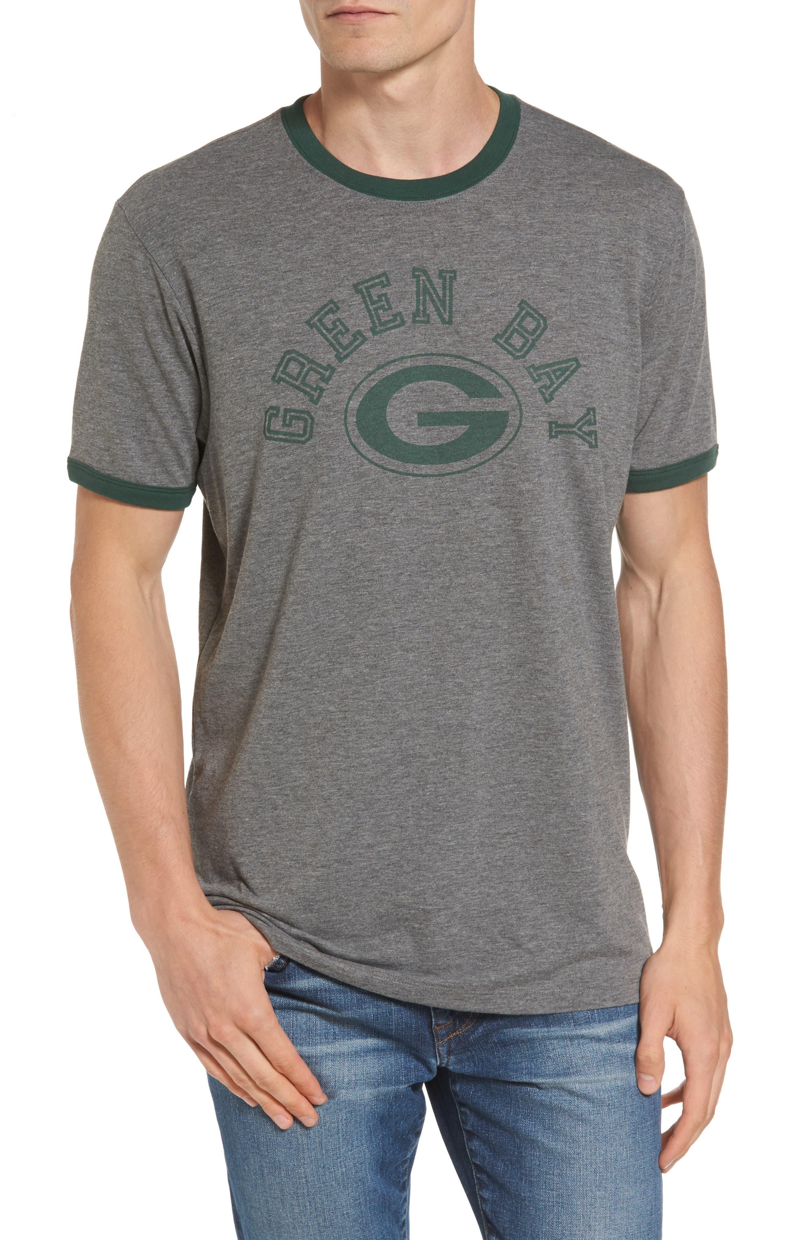 Green Bay Packers Ringer T-Shirt,                             Main thumbnail 1, color,                             021