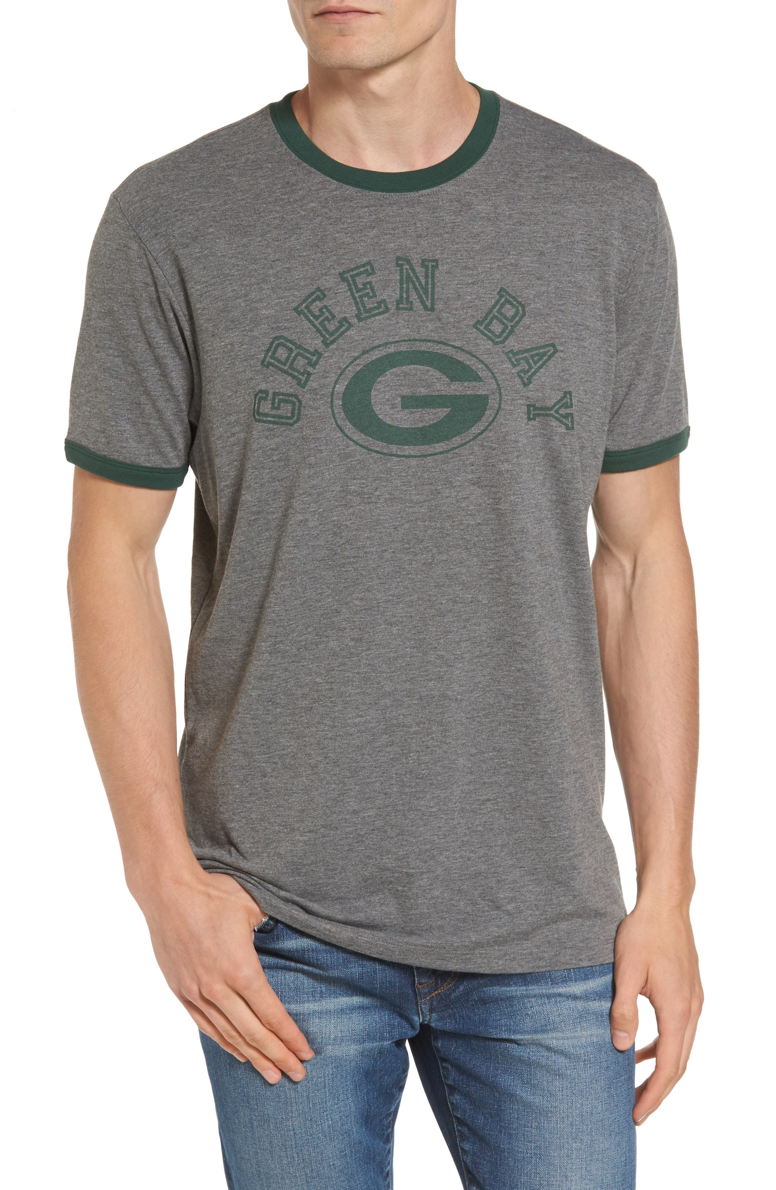 Green Bay Packers Ringer T-Shirt,                         Main,                         color, 021